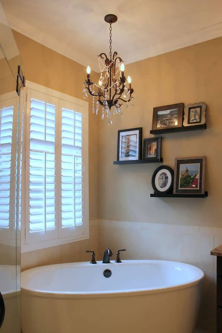 Crystal Chandelier Bathroom Lighting With Famous Chandelier : Small Crystal Chandelier Traditional Bathroom Lighting (View 10 of 15)