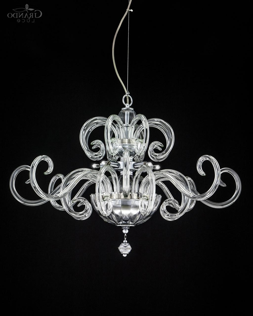 Crystal Chrome Chandeliers Pertaining To Most Up To Date 119/sm Chrome Modern Crystal Chandelier With Swarovski Elements (View 6 of 15)