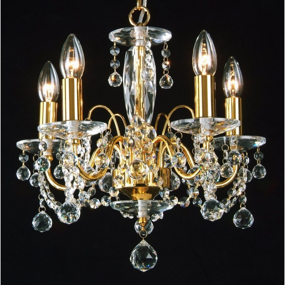 Crystal Gold Chandelier Throughout Recent Chandeliers Design : Fabulous Terrific Gold Chandeliers Small (View 7 of 15)