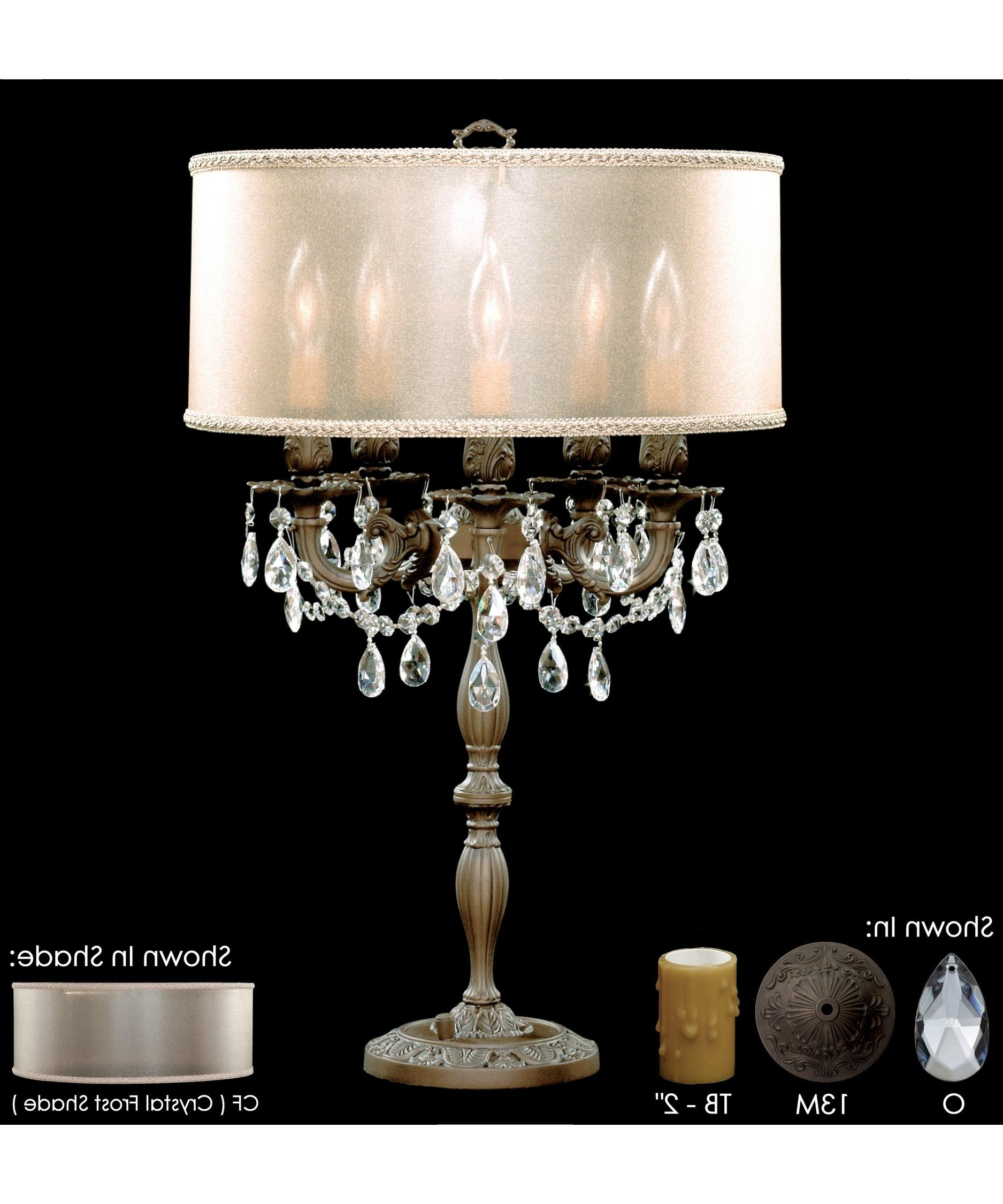 Crystal Table Chandeliers Intended For 2018 American Brass And Crystal Tl6505 Llydia 26 Inch High Table Lamp (View 7 of 15)