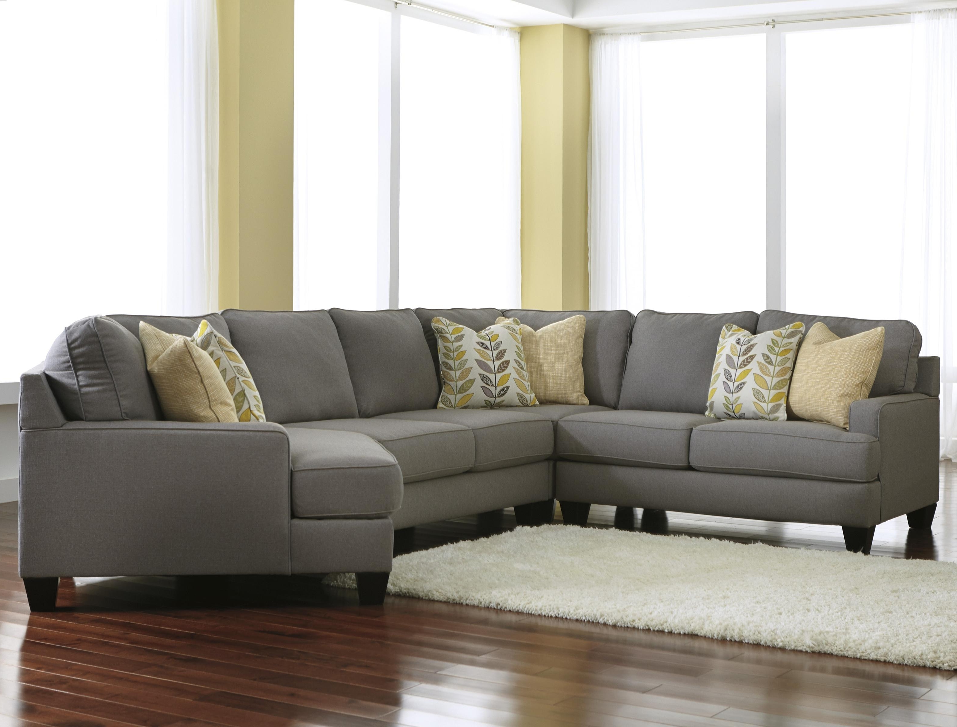 Cuddler Sectional Sofas Intended For Well Known Modern 4 Piece Sectional Sofa With Right Cuddler & Reversible Seat (View 10 of 15)
