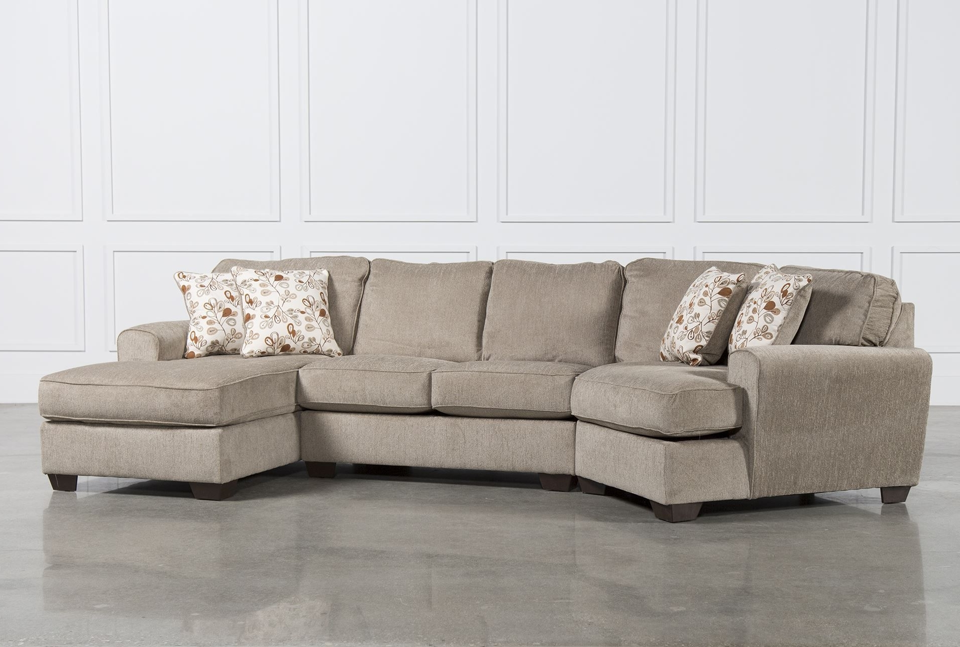 Cuddler Sectional Sofas Within Most Recent Patola Park 3 Piece Cuddler Sectional W/raf Corner Chaise (View 6 of 15)