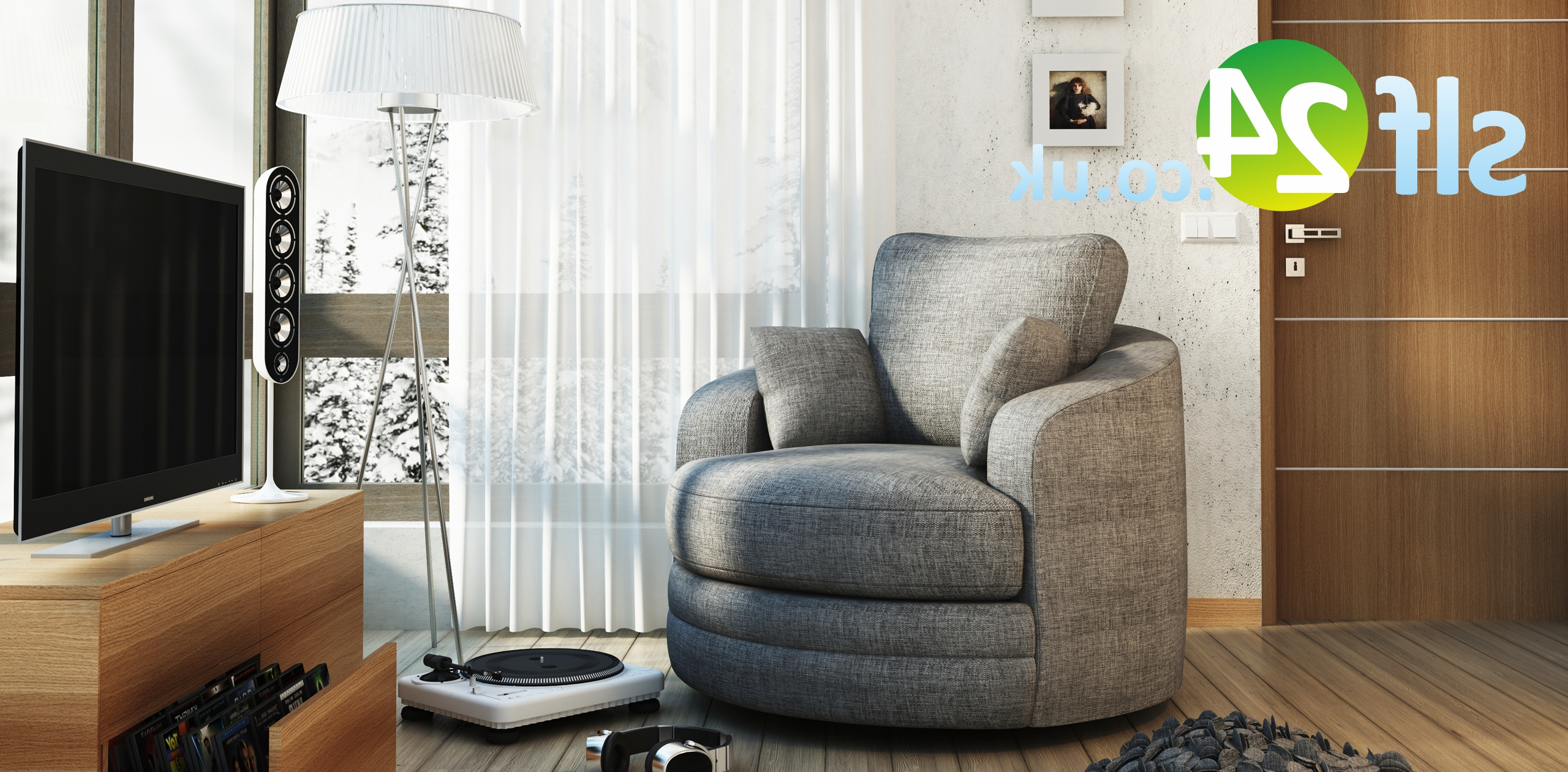 Cuddler Swivel Sofa Chairs Pertaining To Current Swivel Cuddle Chair Sofa (View 7 of 15)