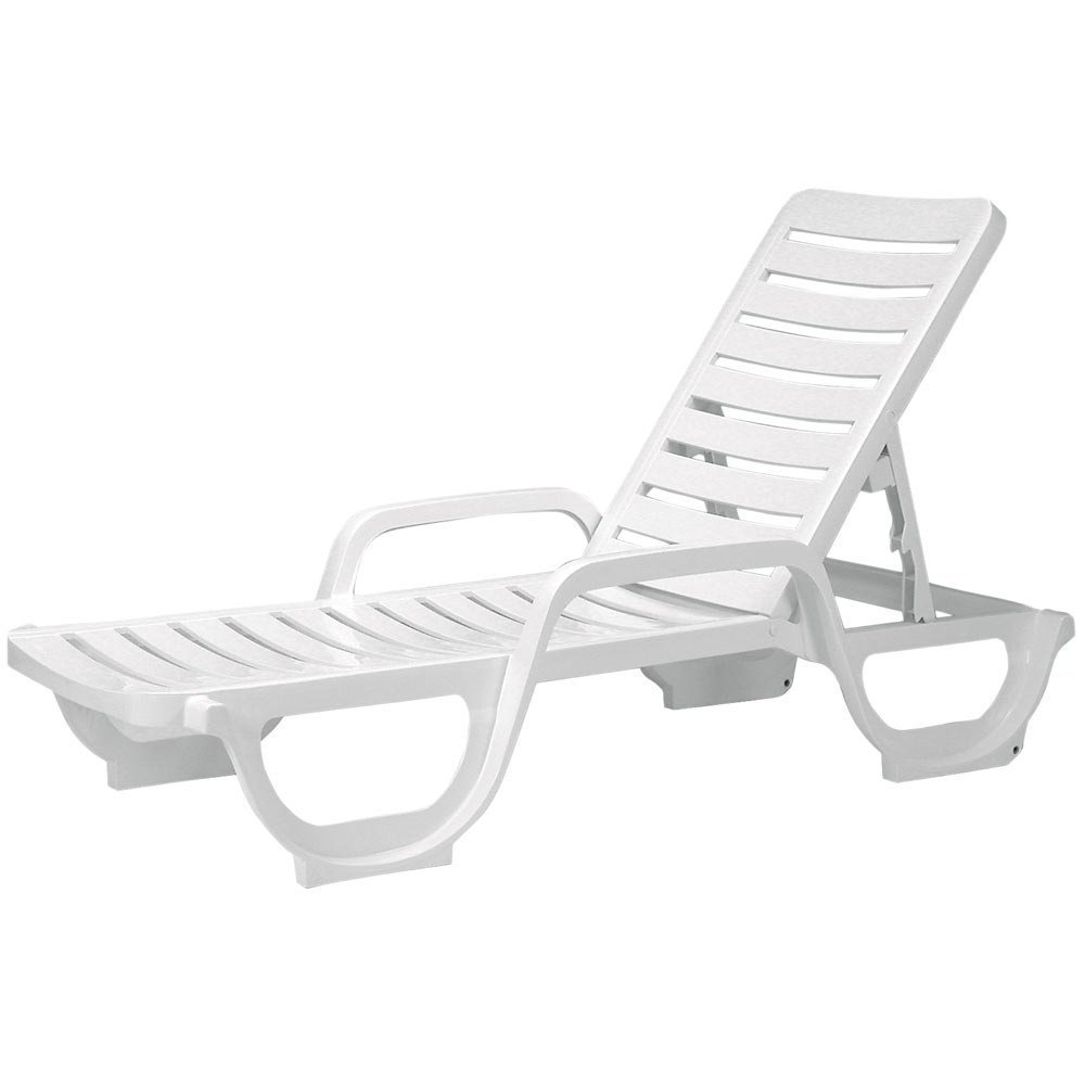 Current Amazon: Case Of 18 Grosfillex Bahia Stacking Adjustable Resin Pertaining To White Chaise Lounge Chairs (View 3 of 15)