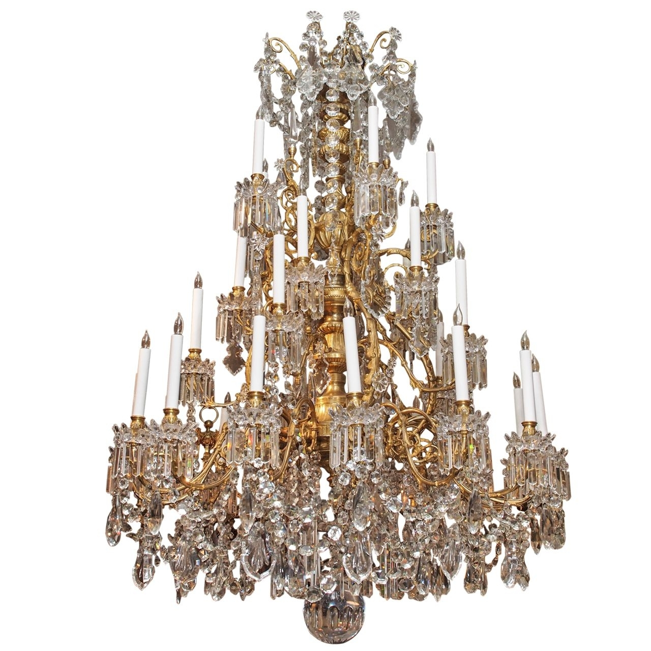 Current Antique Chandeliers For Magnificent Antique French Baccarat Crystal Chandelier Circa  (View 11 of 15)