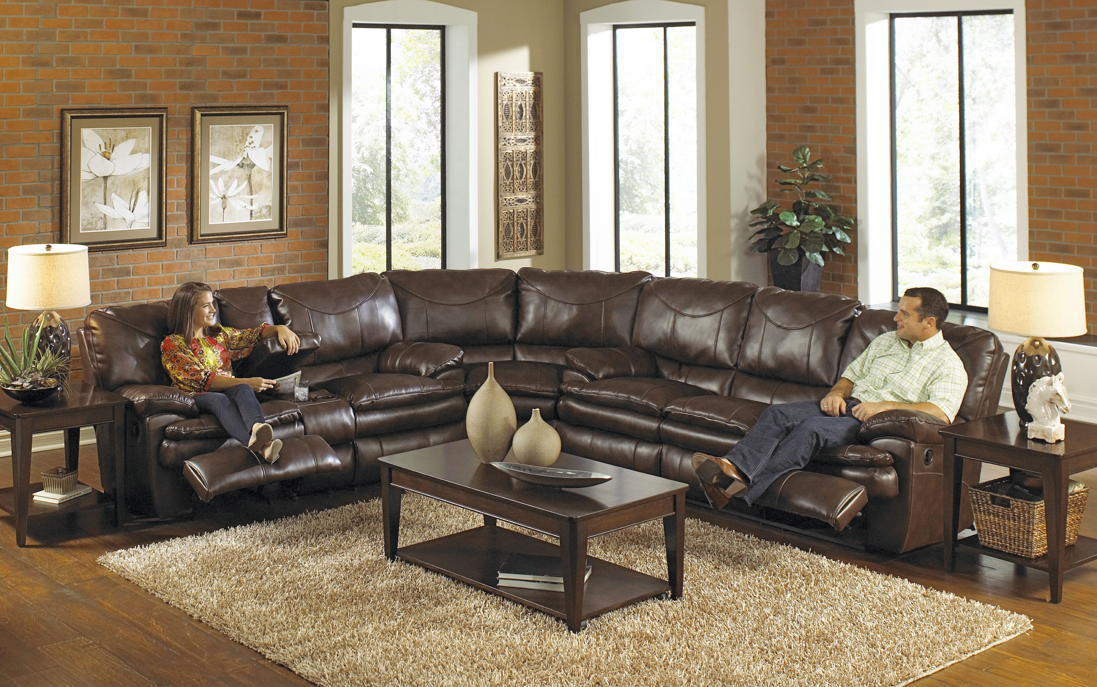 Current Best Leather Sectional Sofa With Recliner Photos – Liltigertoo For Sofas With Chaise And Recliner (View 6 of 15)