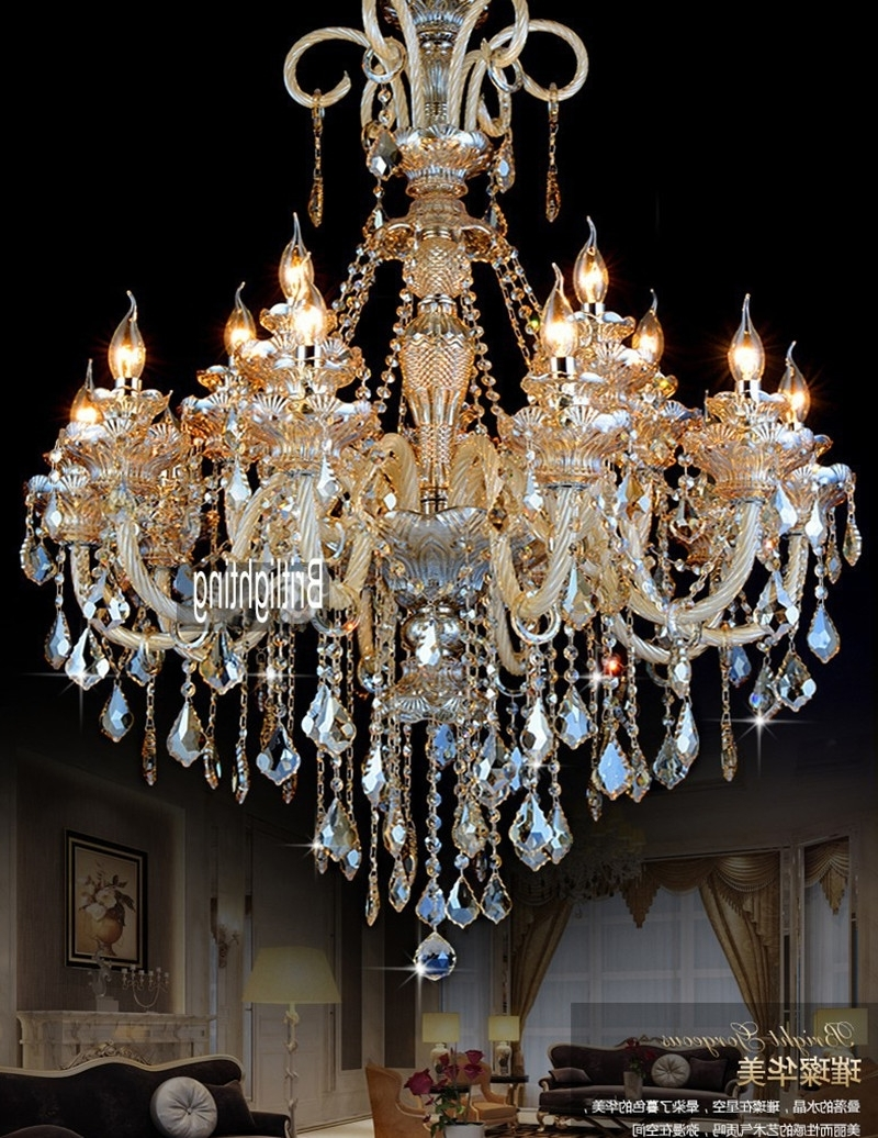 Current Big Crystal Chandelier In Led Lamps Modern Crystal Chandelier Lighting Furniture Big (View 6 of 15)