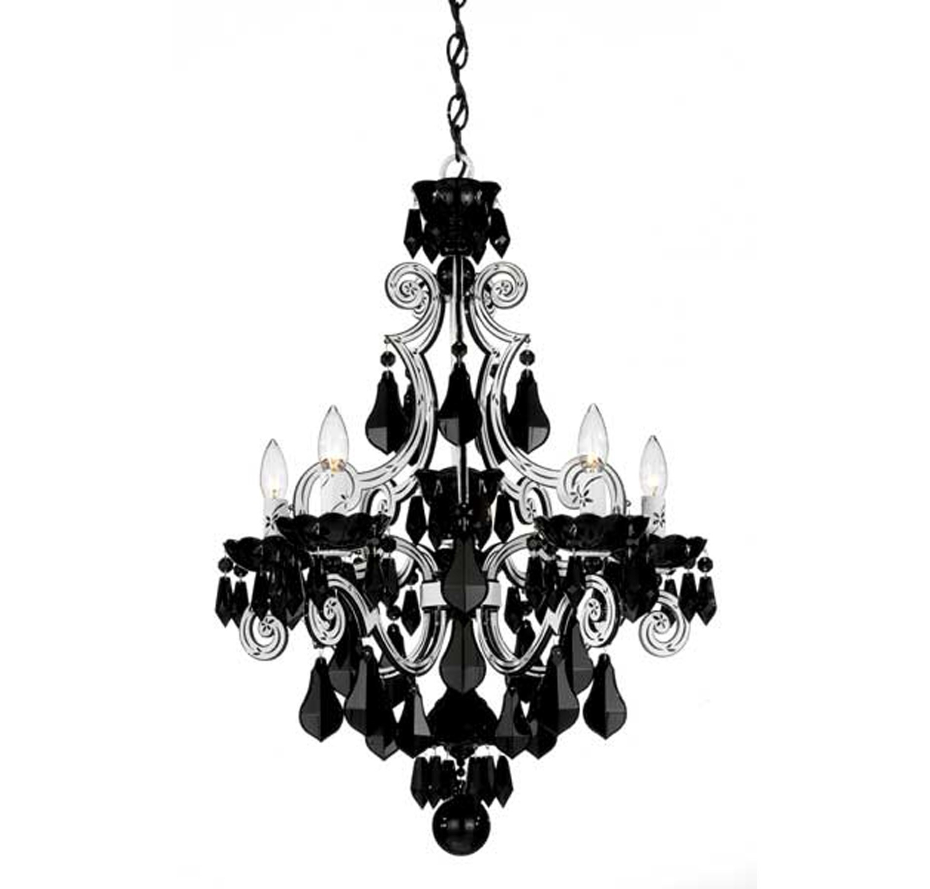 Current Black Glass Chandelier With Regard To Light : Alluring Clear White Black Glass Crystal Chandelier Metal (View 15 of 15)