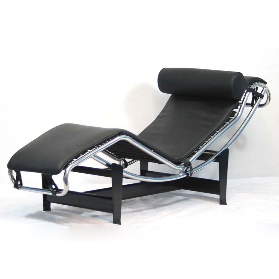 Current Black Leather Chaise Lounges With Shop Modway Le Corbusier Modern Black Leather Chaise Lounges At (View 6 of 15)