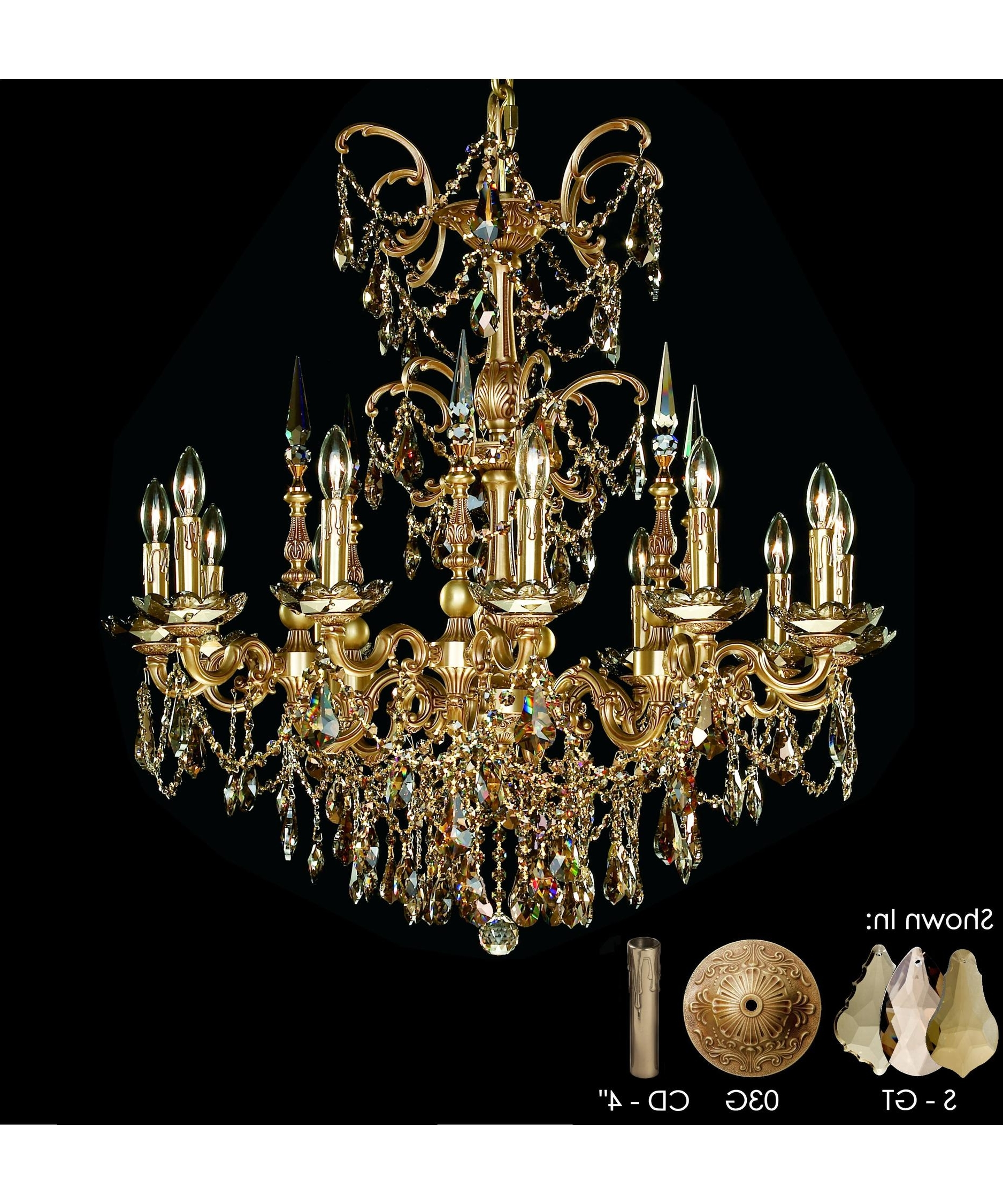 Current Brass And Crystal Chandelier Inside American Brass And Crystal Ch9382 Venetian 32 Inch Wide 12 Light (View 7 of 15)