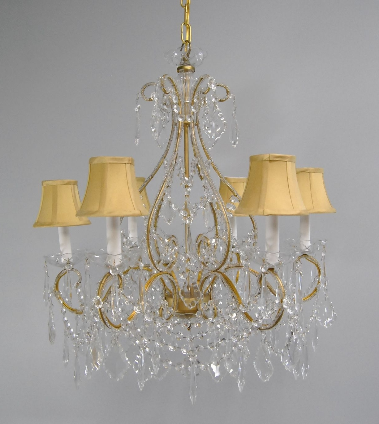 Current Brass And Crystal Chandelier Throughout Chandelier (View 2 of 15)