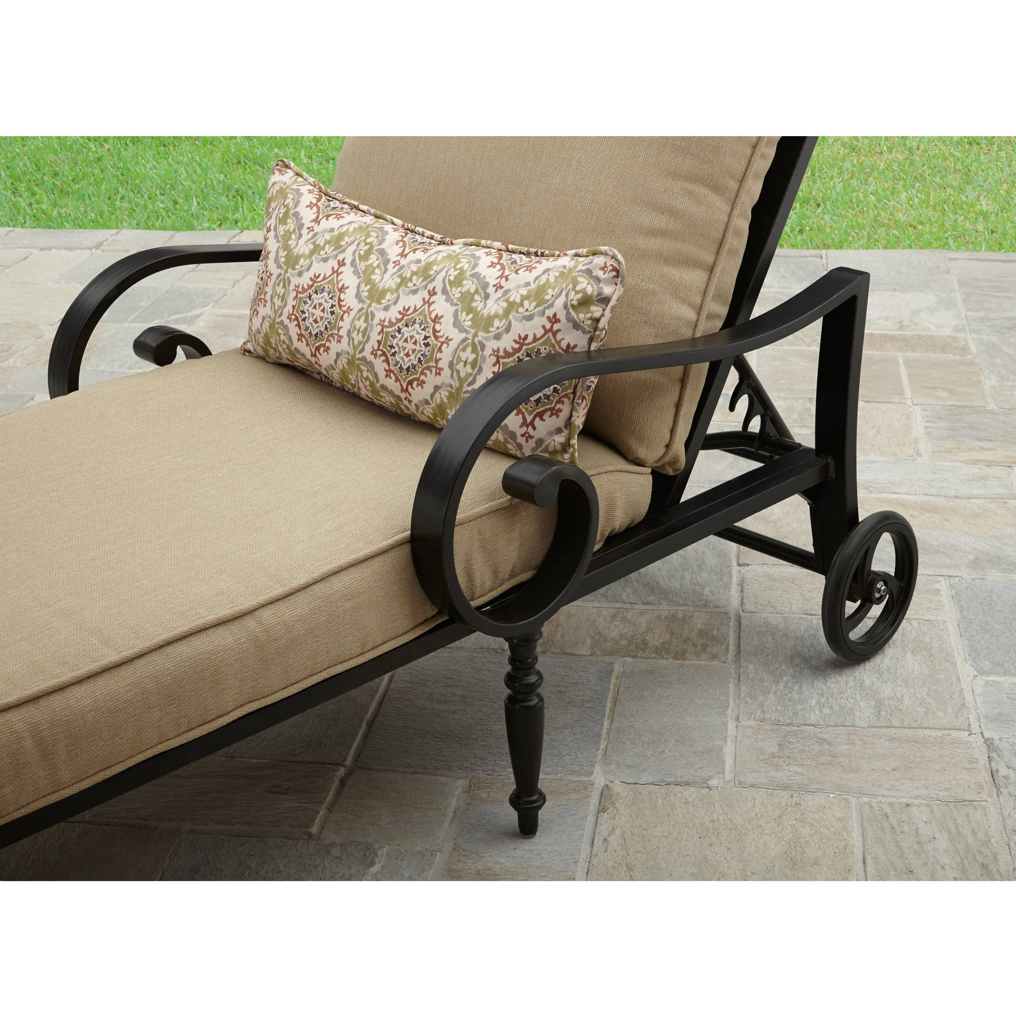 Current Cast Aluminum Chaise Lounges With Wheels In Better Homes And Gardens Englewood Heights Ii Aluminum Outdoor (View 10 of 15)