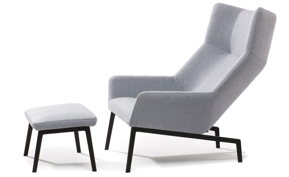 Current Chairs With Ottoman For Park Lounge Chair & Ottoman – Hivemodern (View 1 of 15)
