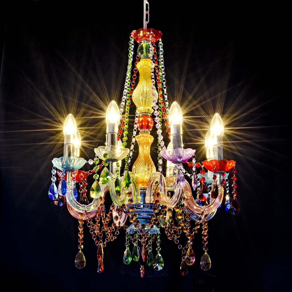 Current Coloured Chandeliers Regarding Gypsy Chandelier – Lh79 – Be Fabulous! (View 10 of 15)