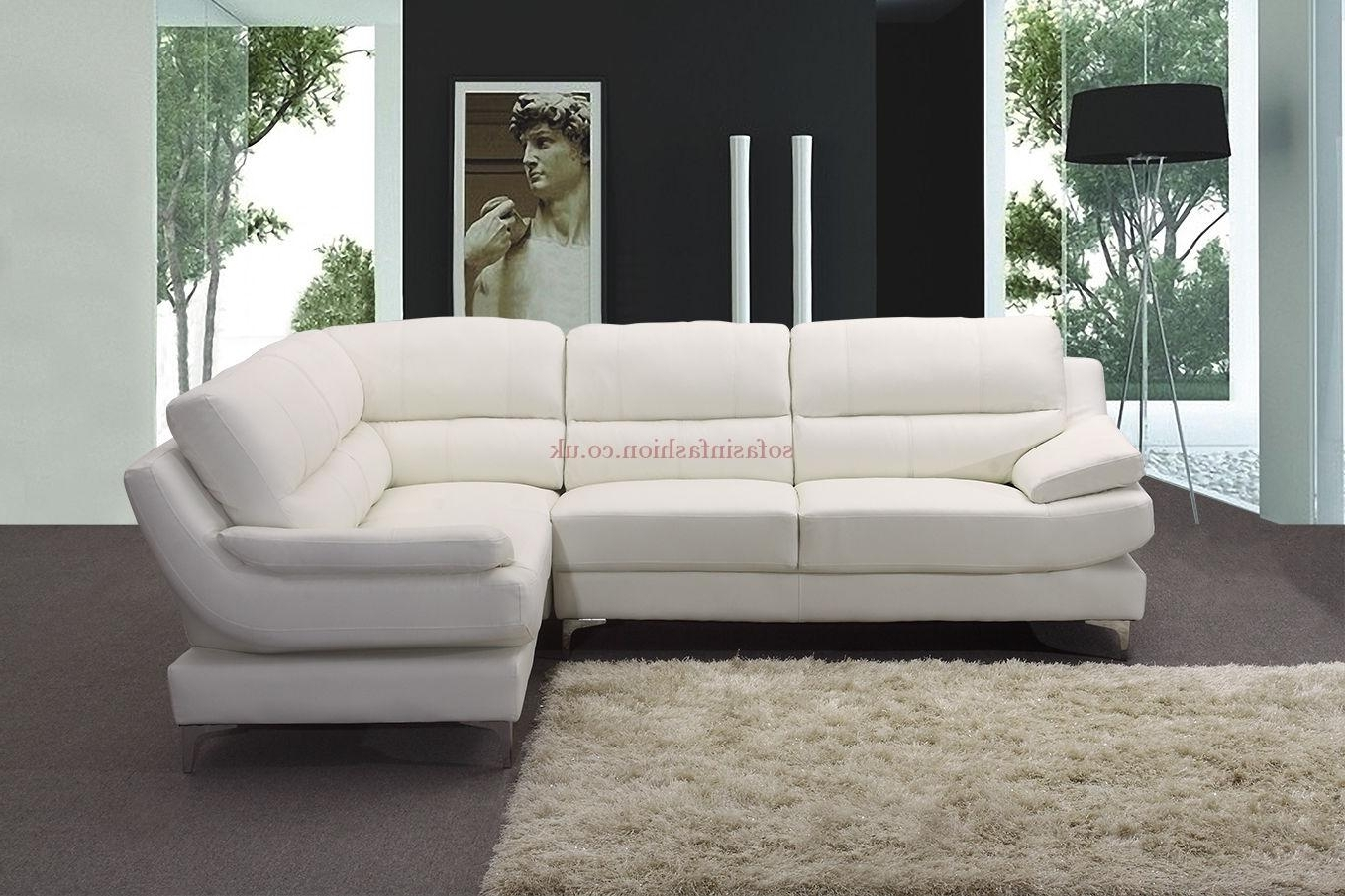 Current Corner Sofa Leather With Corner Sofa White Leather Monza Isofas 6 Inside White Leather Corner Sofas (View 3 of 15)