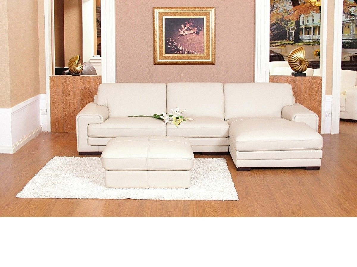 Current Cream Chaise Sofas With Regard To Chaise Corner Sofa Leather Mix Cream Black Brown – Homegenies (View 8 of 15)