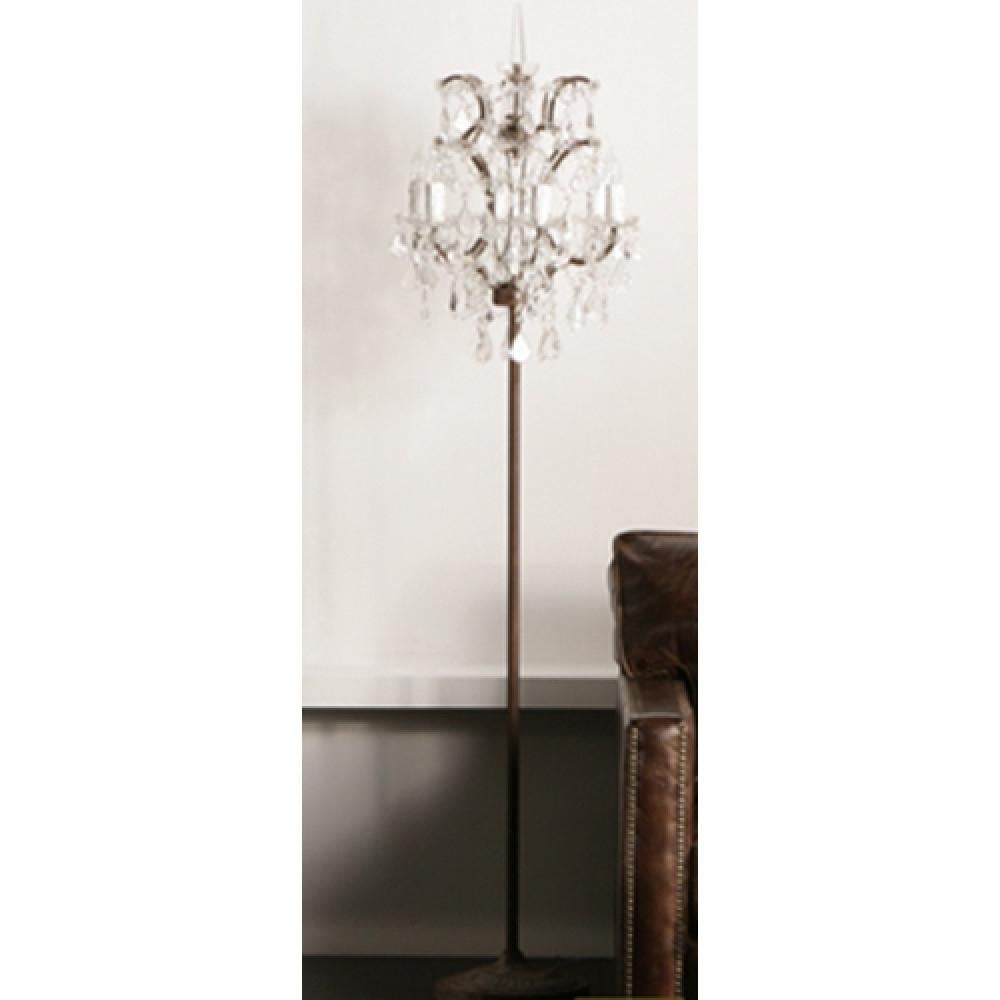 Current Crystal Chandelier Standing Lamps Inside Crystal Chandelier Floor Lamp (View 7 of 15)