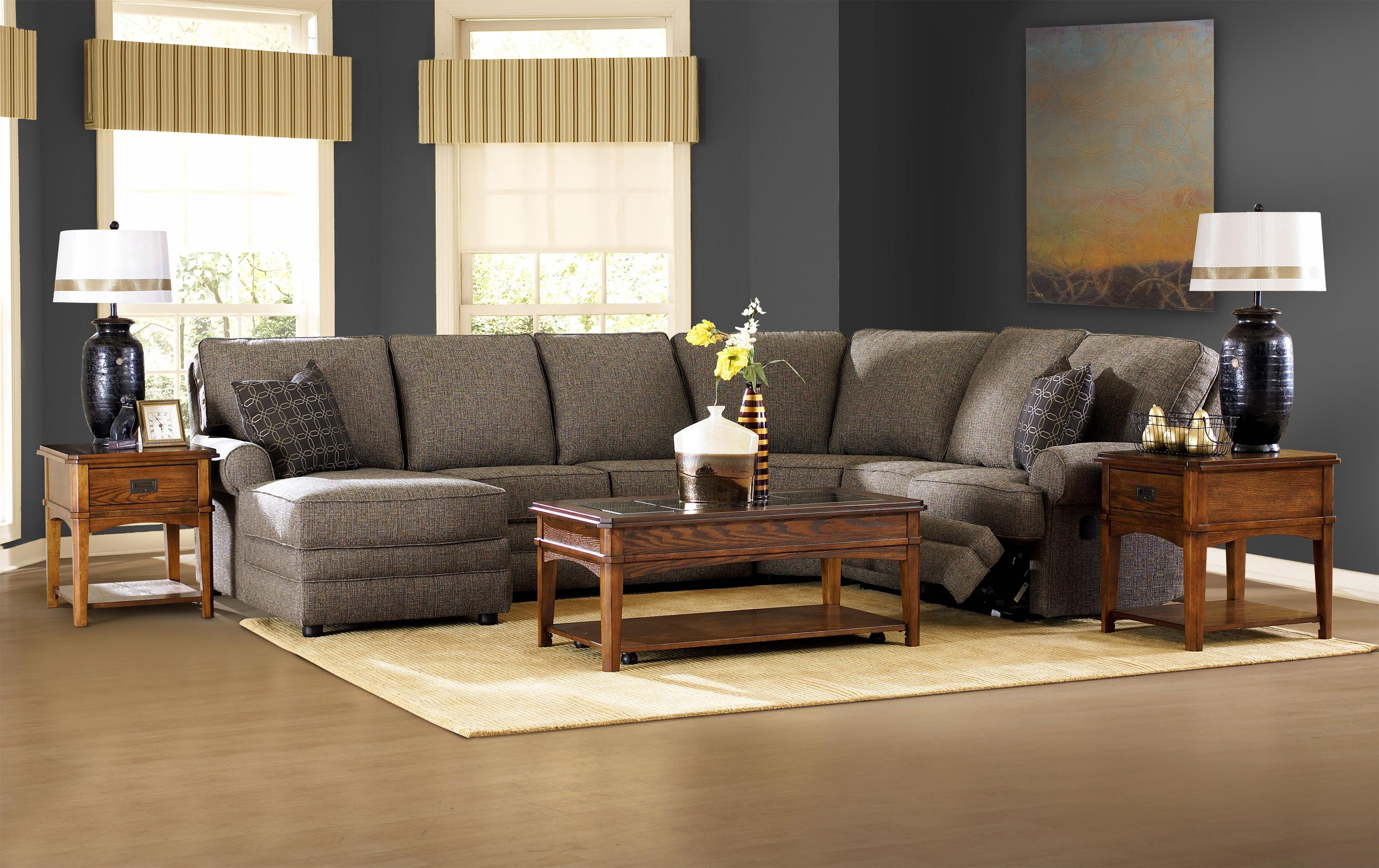 Current Ergonomic Sectional With Chaise And Recliner For Living Room Intended For Sectionals With Chaise And Recliner (View 2 of 15)