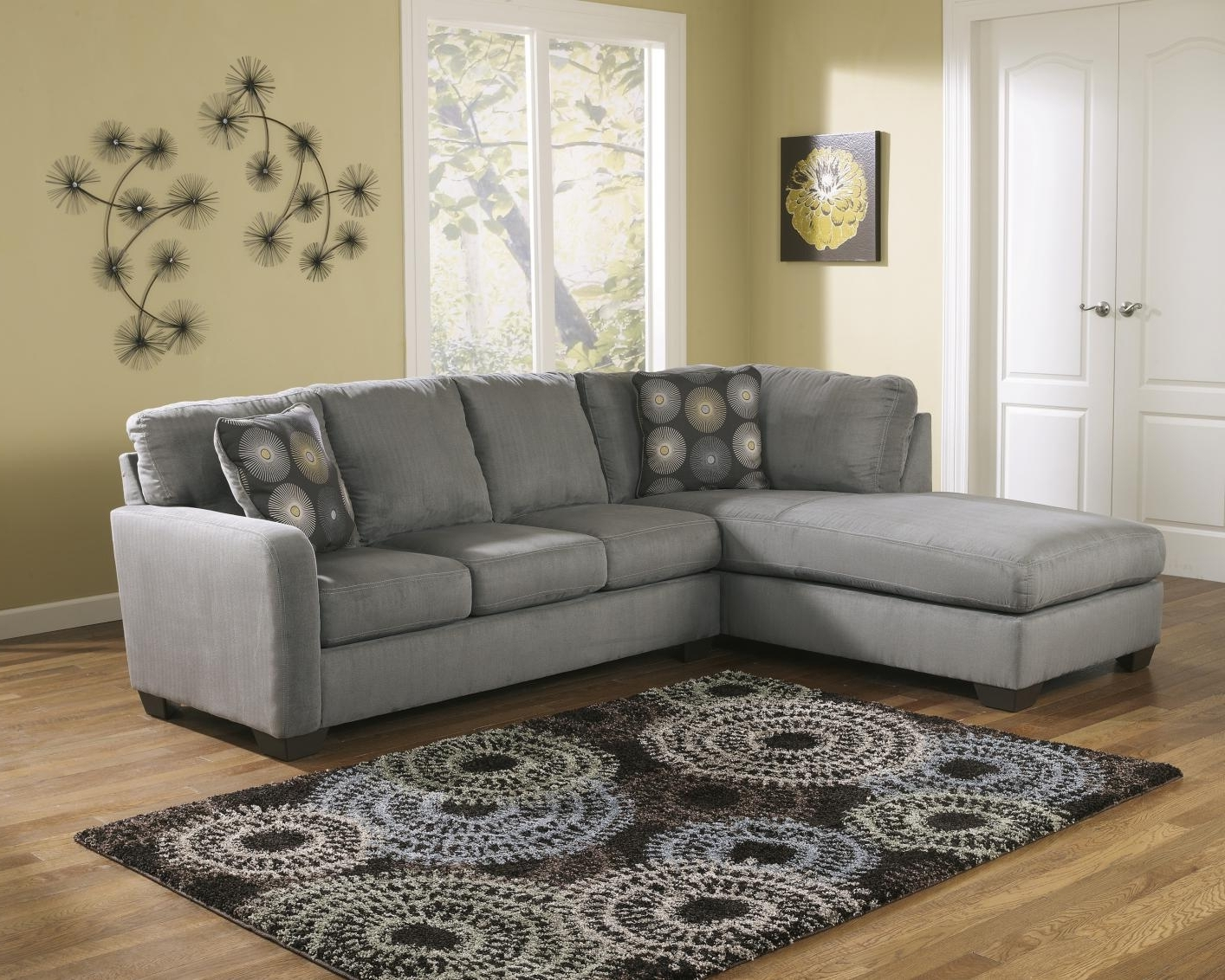 Current Fabric Sectional Sofas With Grey Fabric Sectional Sofa – Steal A Sofa Furniture Outlet Los (View 2 of 15)