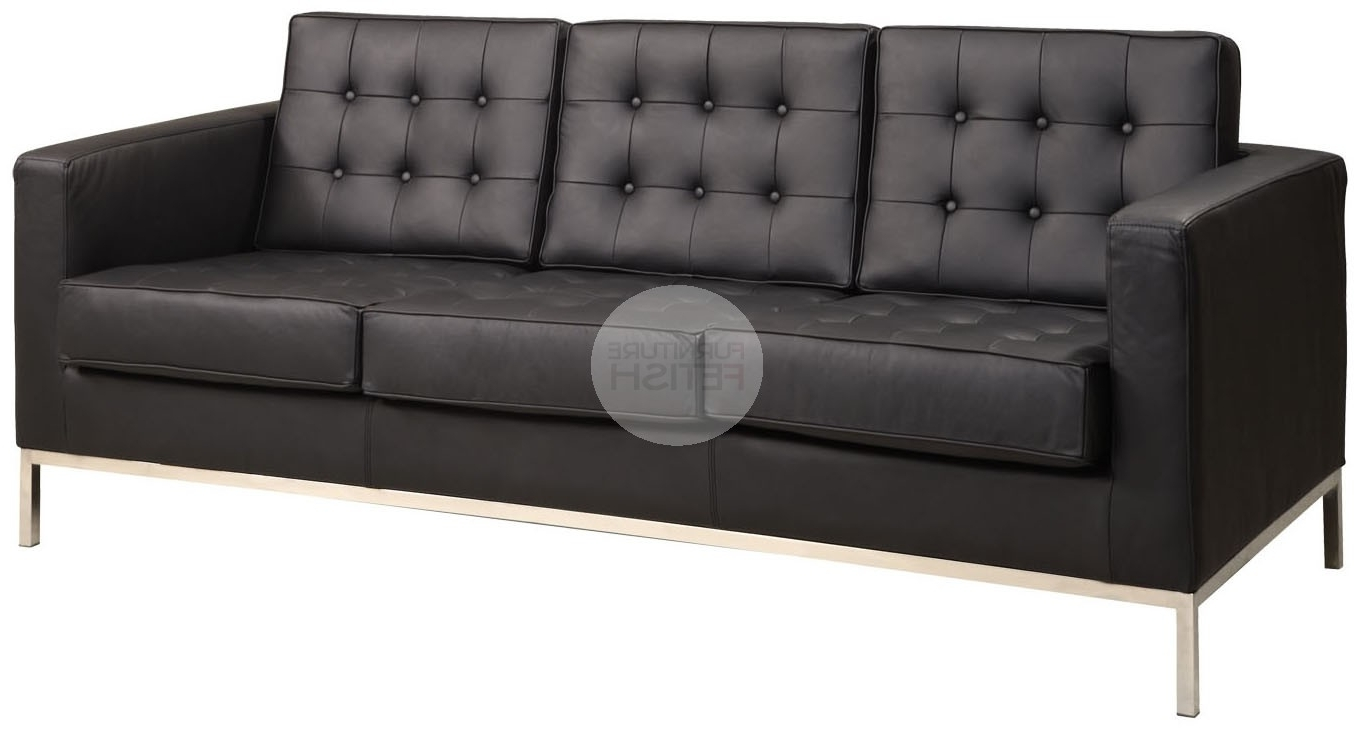 Current Florence Knoll Replica 3 Seater Sofa – Black Furniture Fetish Gold With Regard To Florence Knoll 3 Seater Sofas (View 11 of 15)