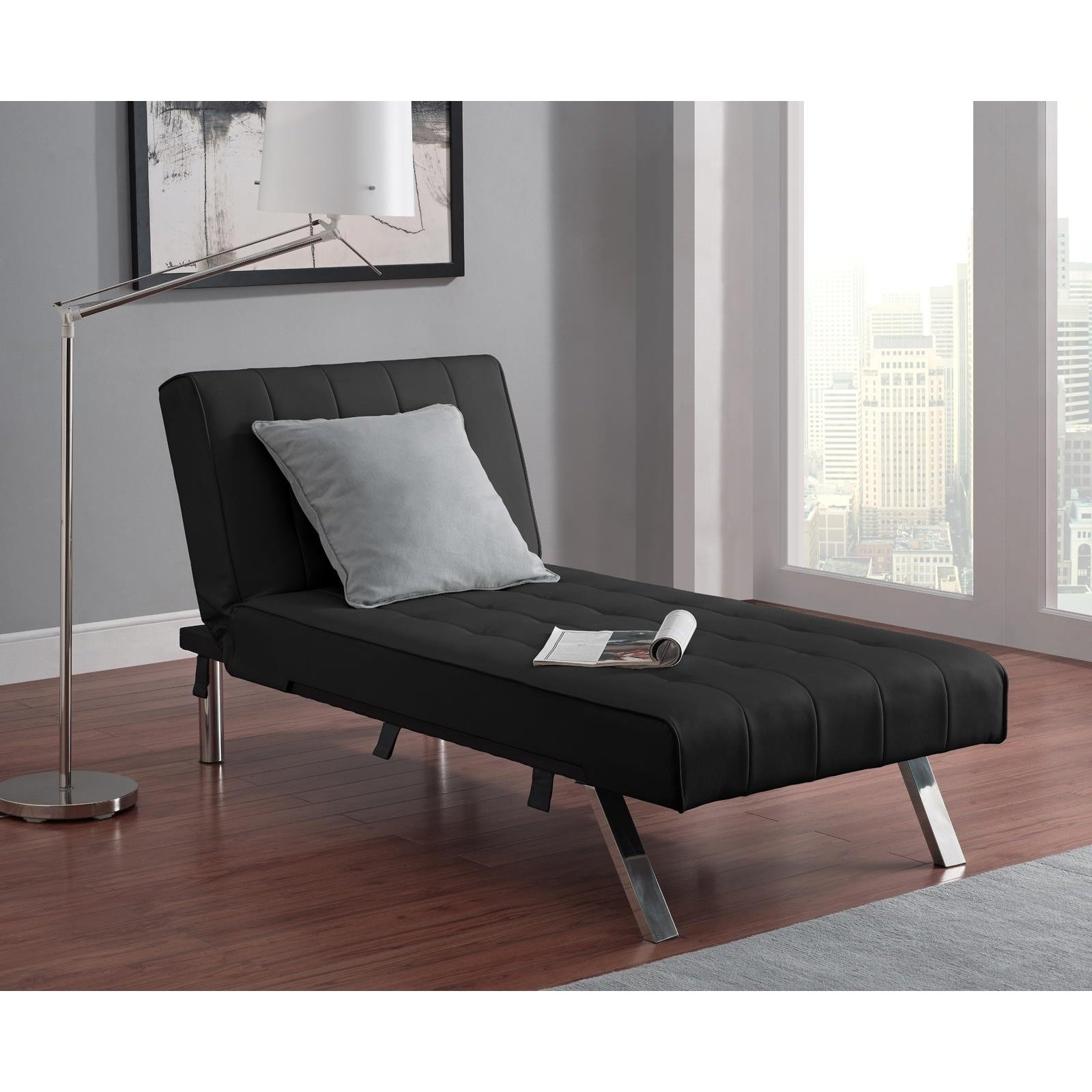 Current Furniture : Wonderful Indoor Chaise Lounge Under $100 Awesome Dhp Within Indoor Chaise Lounges (View 5 of 15)