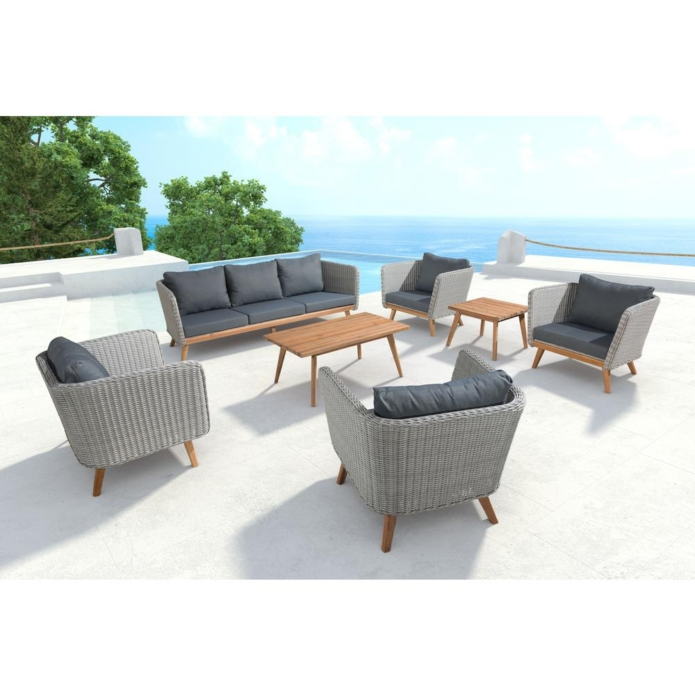 Current Gray – Outdoor Sofas – Outdoor Lounge Furniture – The Home Depot In Patio Sofas (View 6 of 15)