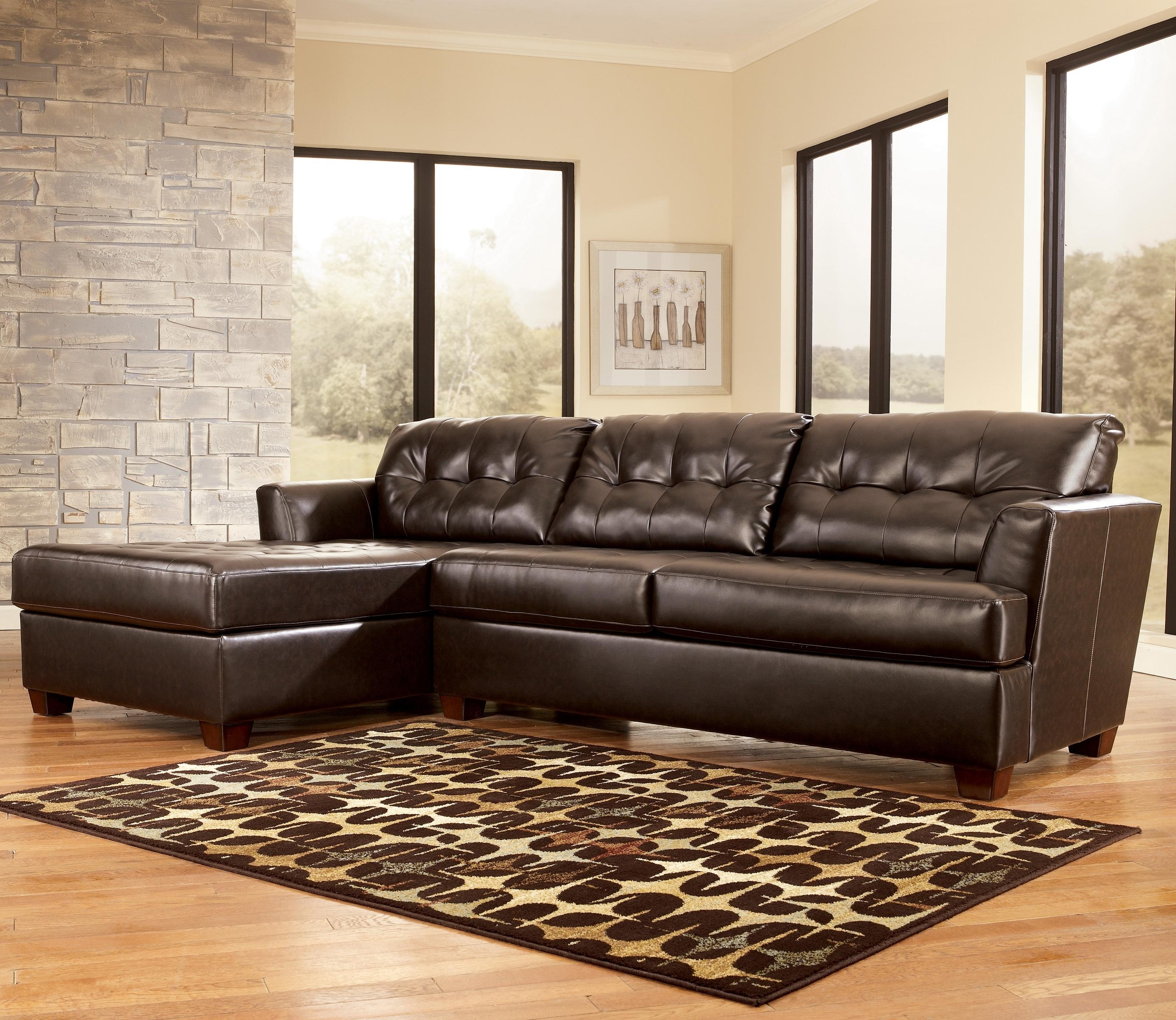 Current Home Furniture Sectional Sofas For Dixon Durablend – Chocolate Sectional Sofasignature Design (View 4 of 15)
