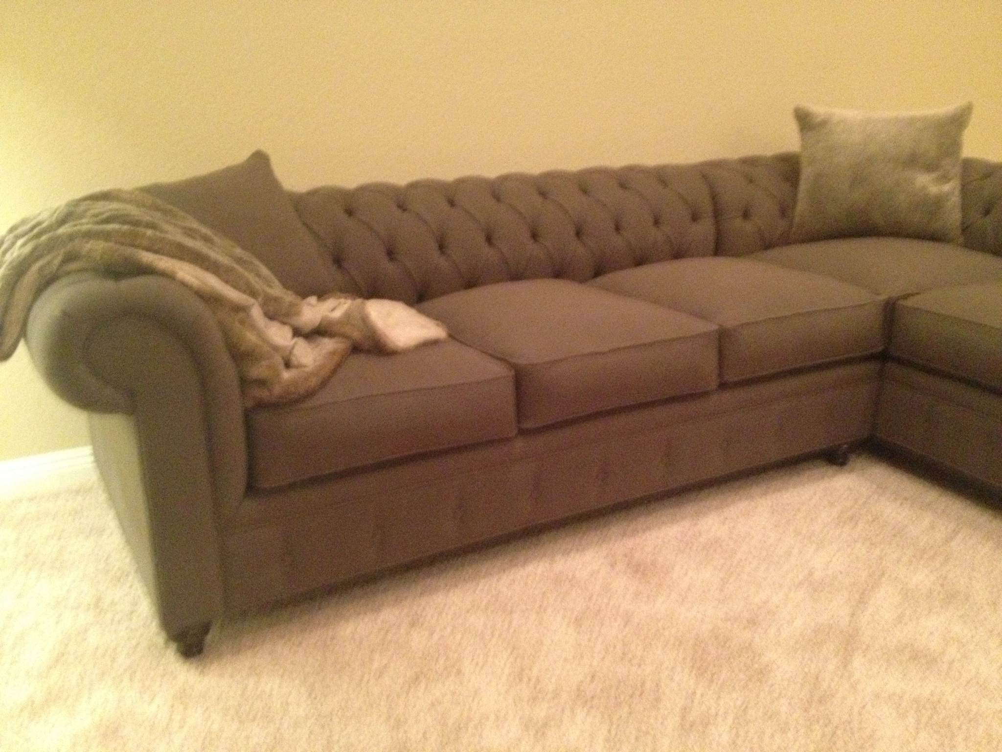 Current Houzz Sectional Sofas Intended For Kenzie Style ! Custom Chesterfield Sofa Or Sectional (View 5 of 15)