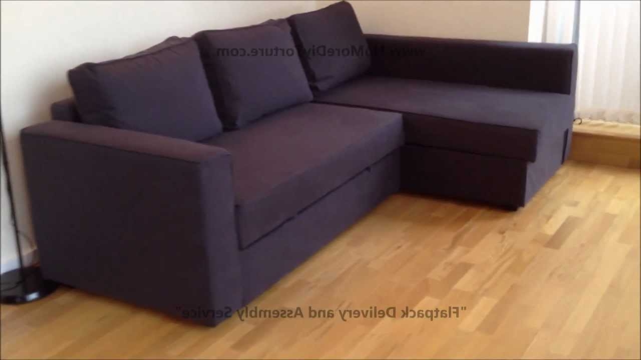 Current Ikea Manstad Corner Sofa Bed With Storage – Youtube Intended For Ikea Chaise Couches (View 12 of 15)