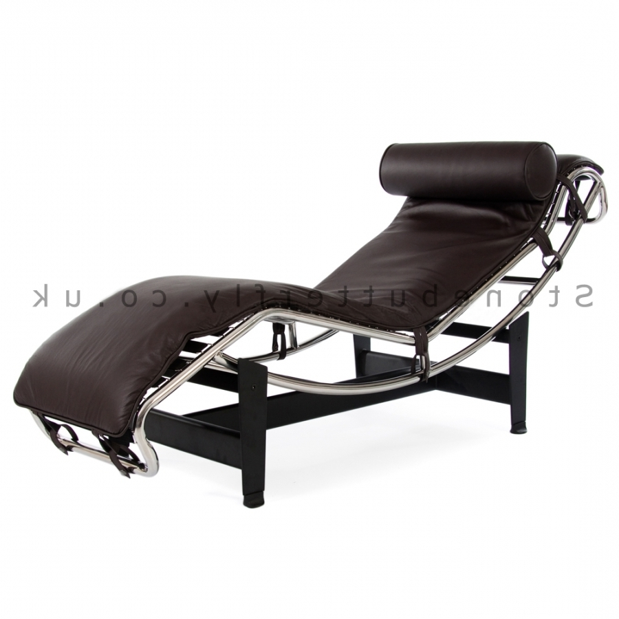 Current Le Corbusier Lc4 Chaise Lounge – Brown Leather In Brown Chaise Lounge Chair By Le Corbusier (View 5 of 15)