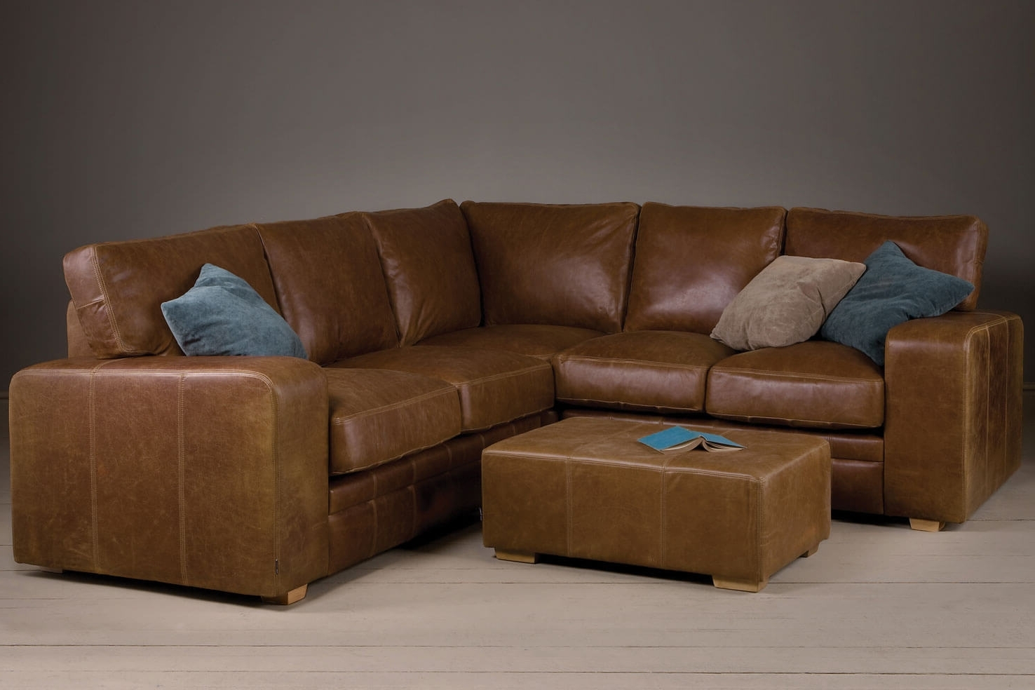 Current Leather Corner Sofas Inside Corner Sofas Handmade In Brown Leather & Fabrics (View 3 of 15)