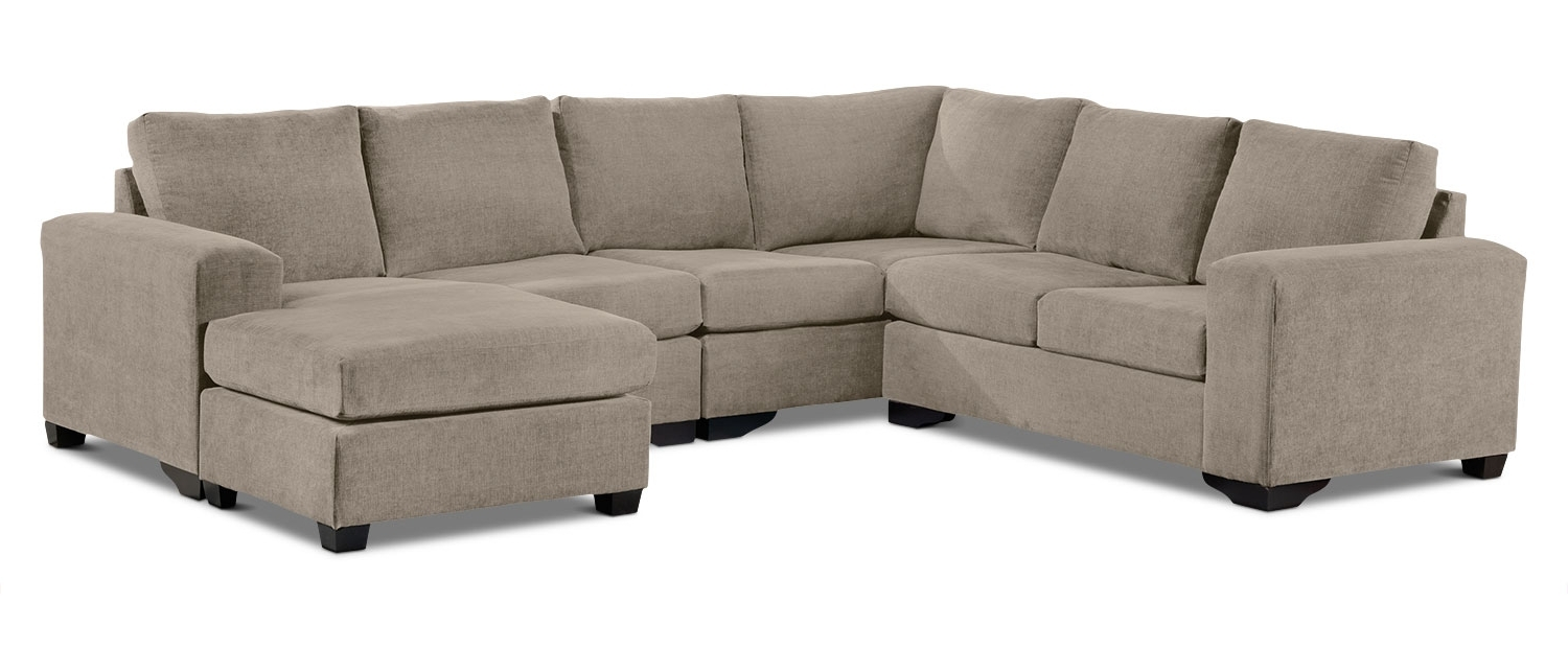 Current Leons Sectional Sofas Intended For Danielle 3 Piece Sectional With Right Facing Corner Wedge – Pewter (View 5 of 15)