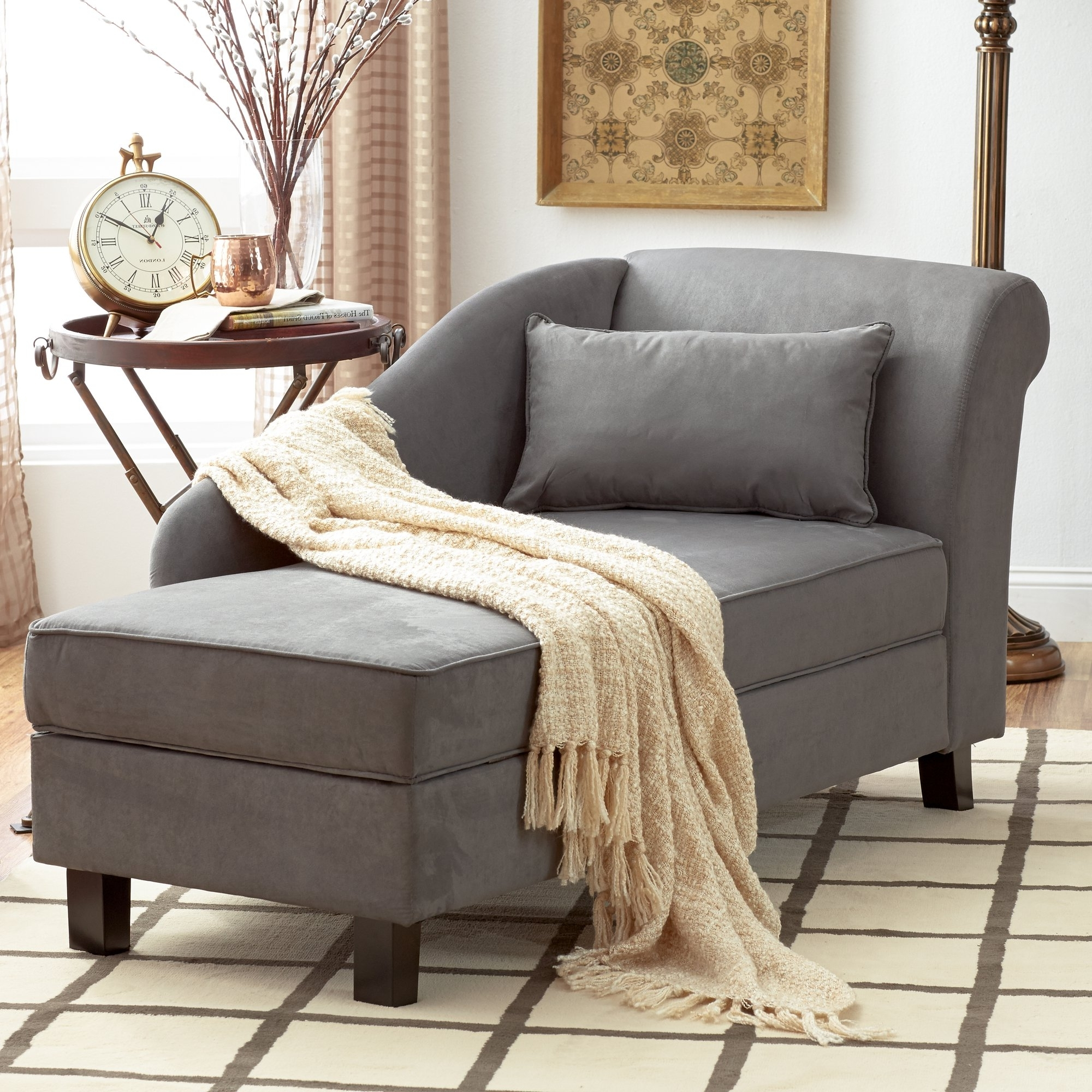 Current Microfiber Chaise Lounges With Uncategorized : Microfiber Chaise Lounge With Wonderful Elegant (View 4 of 15)