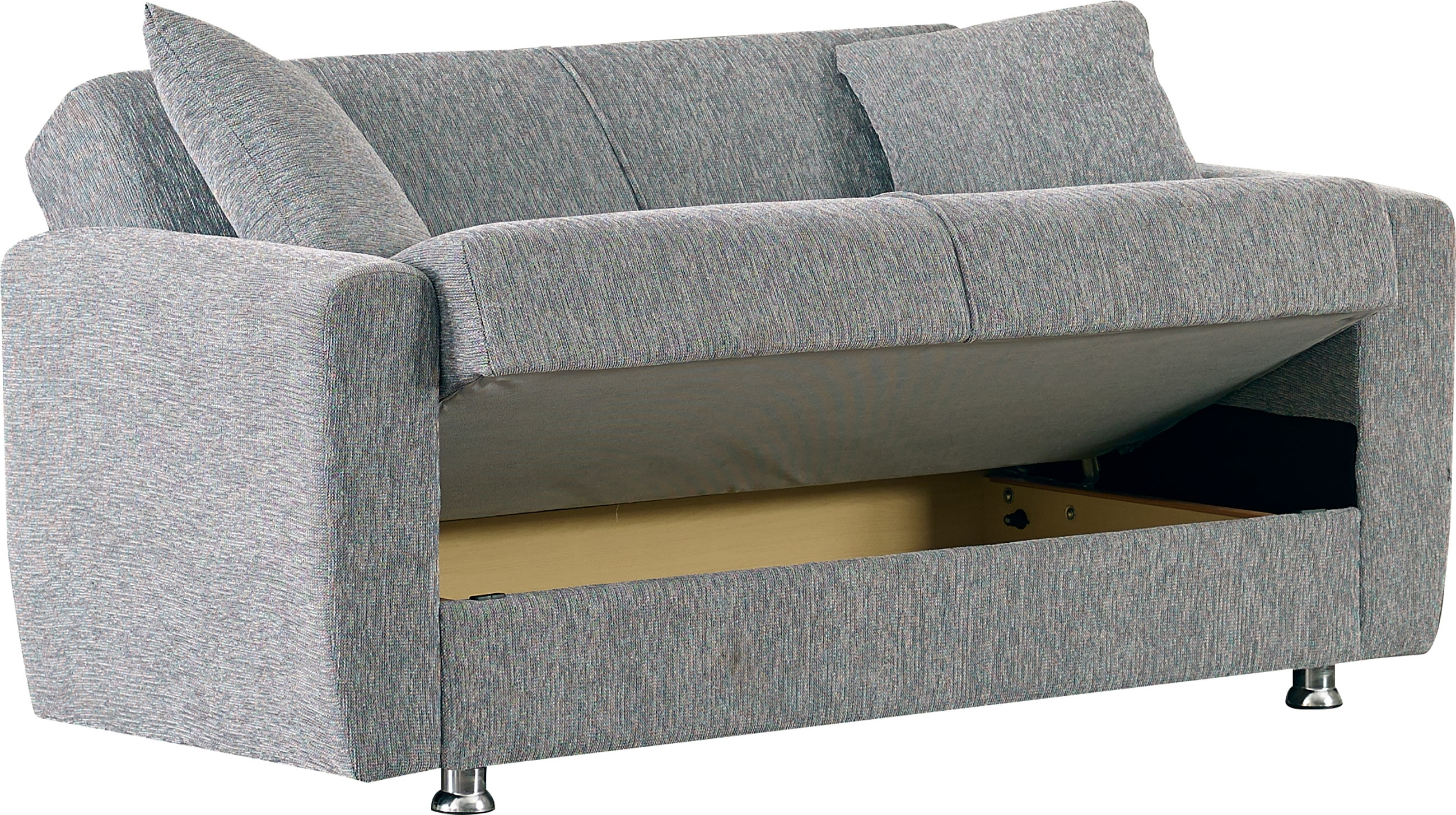 Current Niagara Sectional Sofas Pertaining To Niagara Gray Fabric Loveseatempire Furniture Usa (View 5 of 15)