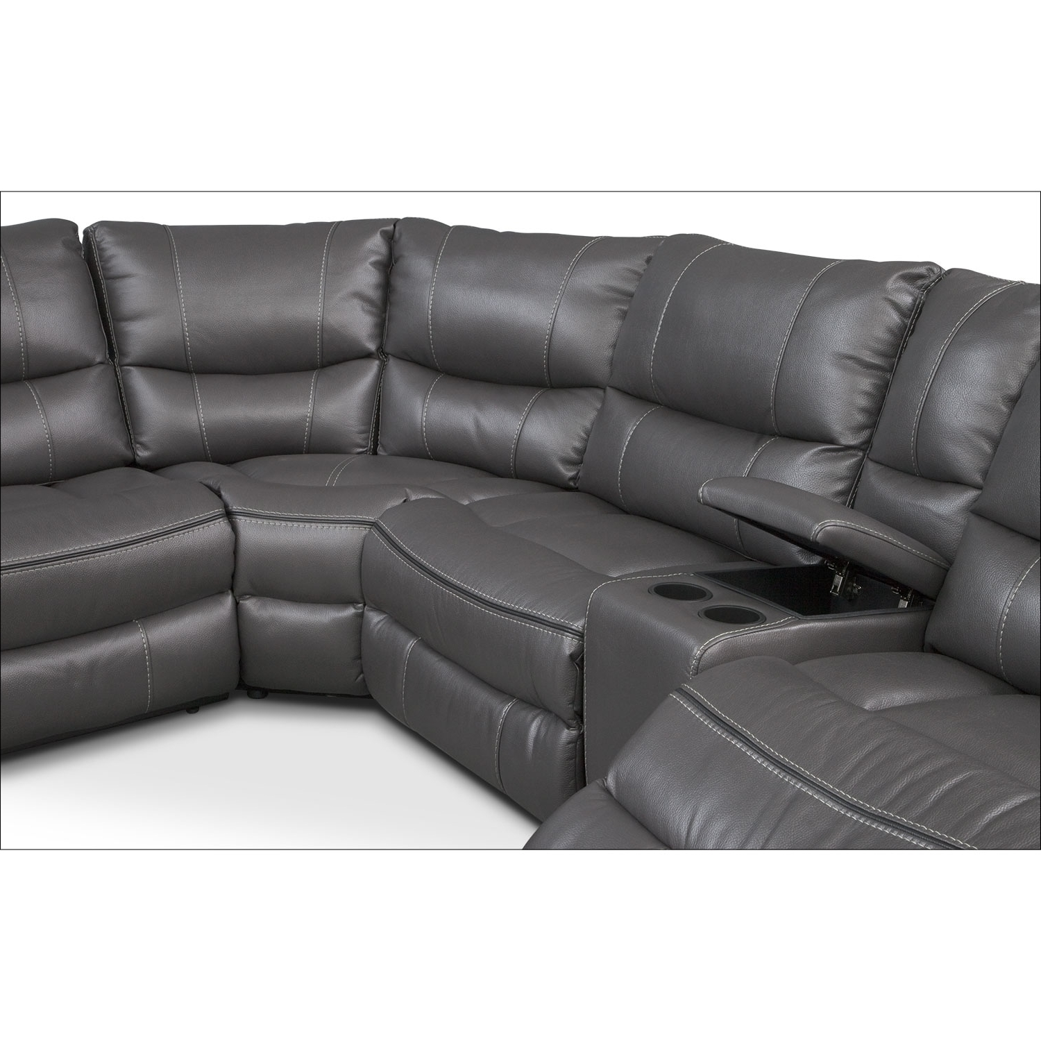 Current Orlando Sectional Sofas Regarding Orlando 6 Piece Power Reclining Sectional With 1 Stationary Chair (View 3 of 15)