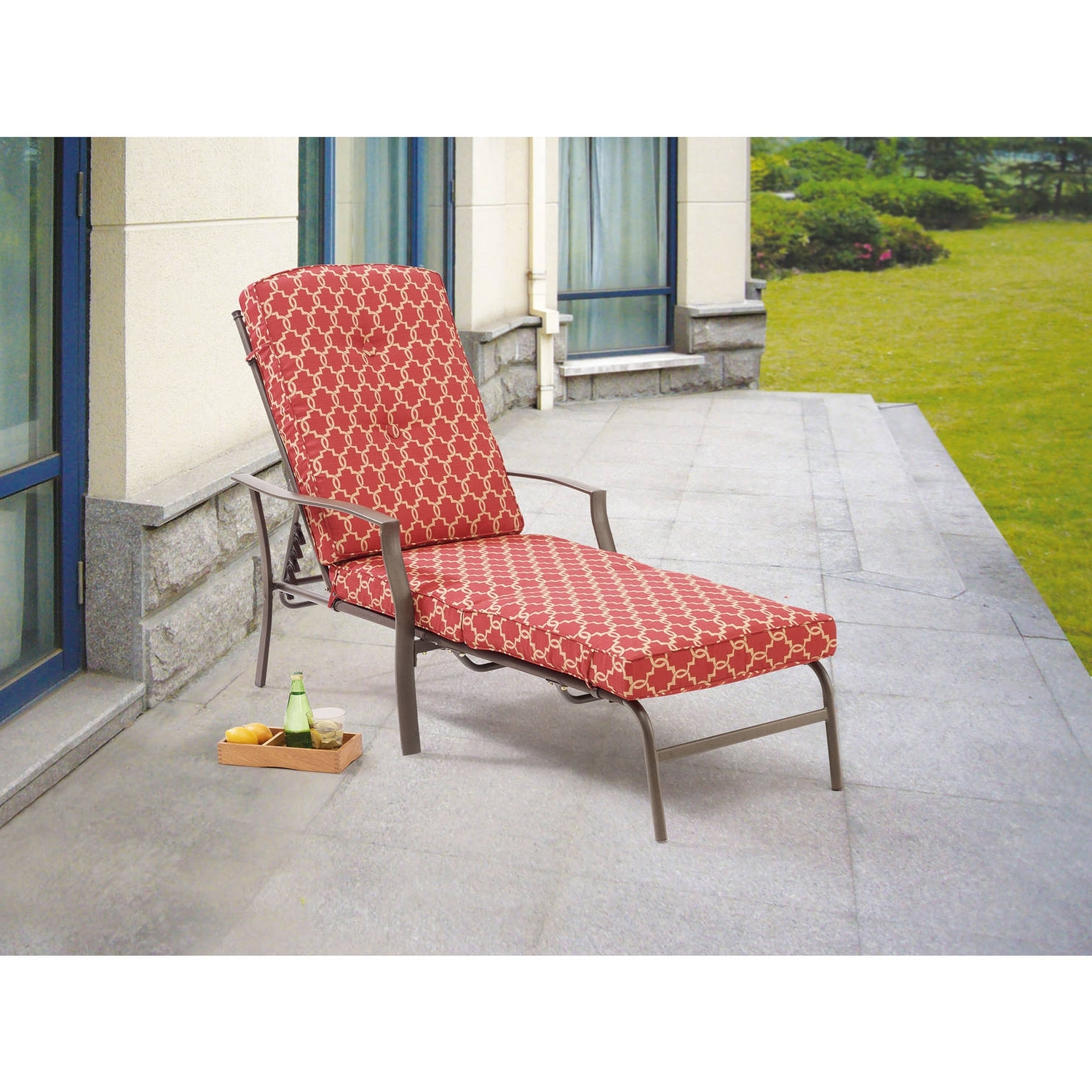 Current Outdoor Chaise Lounge Chairs At Walmart Intended For Cosco Outdoor Adjustable Aluminum Chaise Lounge Chair Serene Ridge (View 3 of 15)