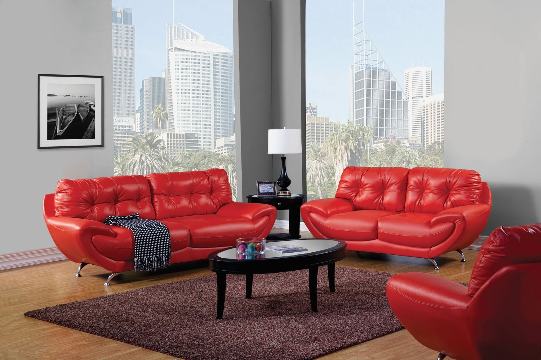 Current Red Leather Couches For Living Room Intended For Living Room : Creative Red Leather Couch Living Room Home Design (View 1 of 15)