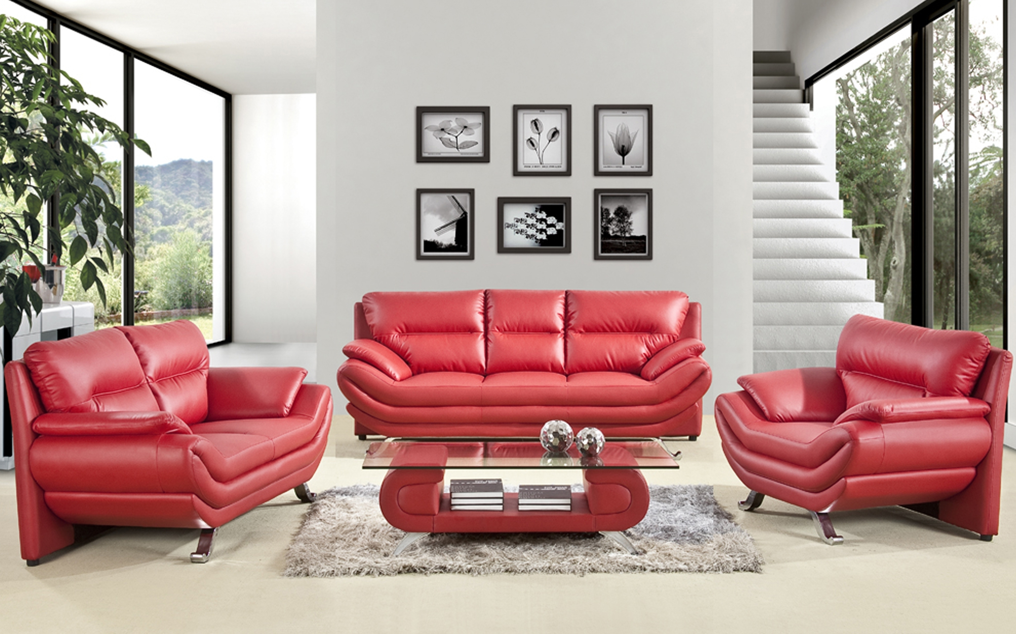 Current Red Leather Sofa Living Room Design • Living Room Design Within Red Leather Couches For Living Room (View 2 of 15)