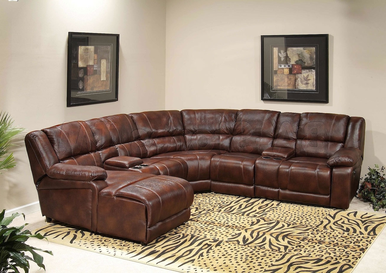 Current Sectional Sofa Design ~ Spainlodger Pertaining To Leather Recliner Sectional Sofas (View 3 of 15)