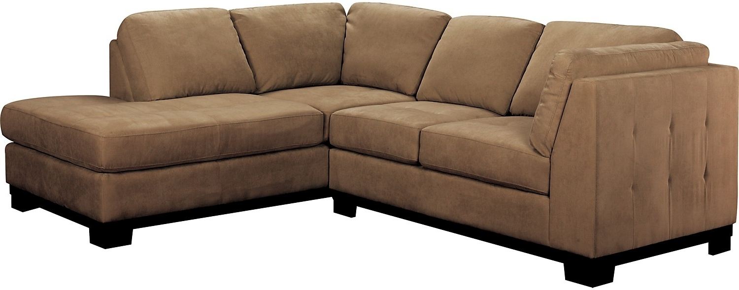 Current Sectional Sofas At The Brick With Regard To Oakdale 2 Piece Microsuede Sectional W/right Facing Chaise – Cocoa (View 3 of 15)