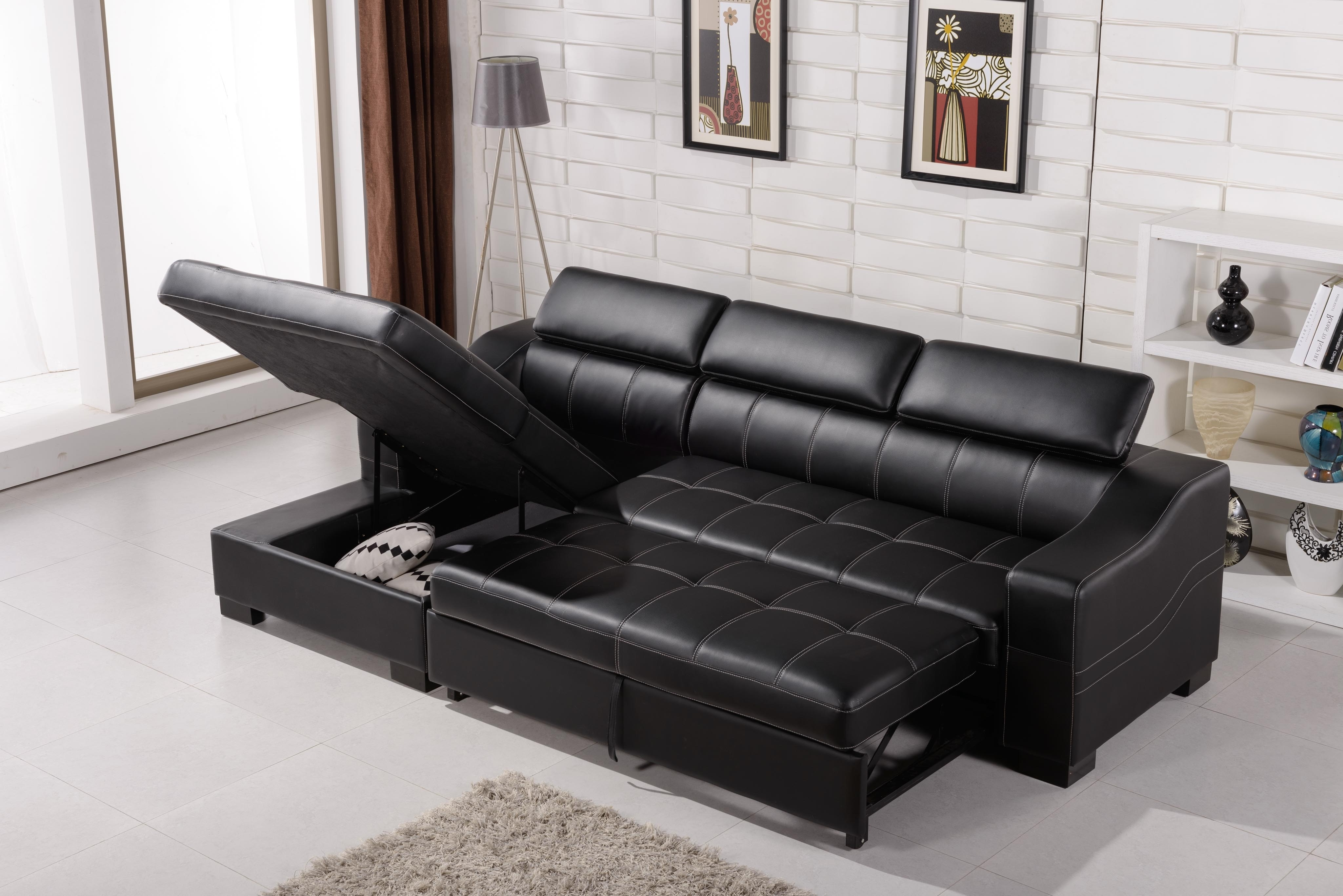 Current Sectional Sofas That Turn Into Beds With Regard To Sectional Sofa That Turns Into A Bed • Sofa Bed (View 2 of 15)