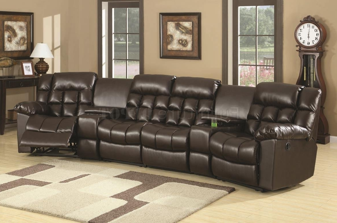 Current Sectional Sofas With Recliners Leather Intended For Modern Reclining Sectional U Shaped Sectional Big Lots Furniture (View 6 of 15)