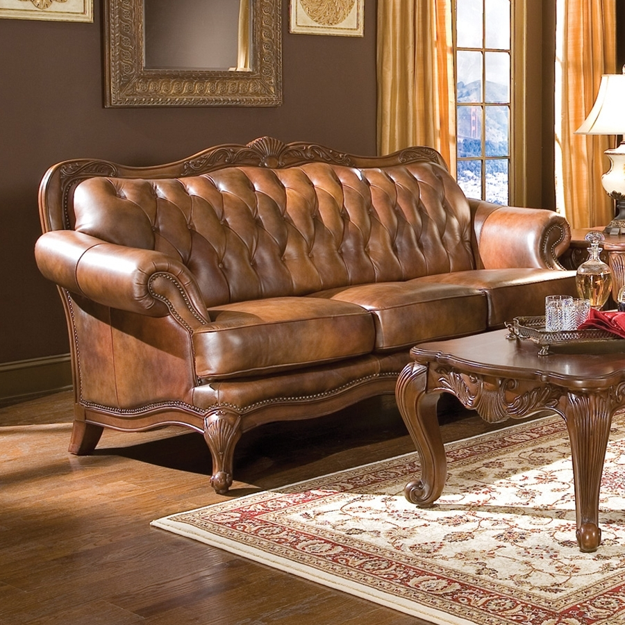 Current Shop Coaster Fine Furniture Victoria Victorian Brown Genuine with Victorian Leather Sofas