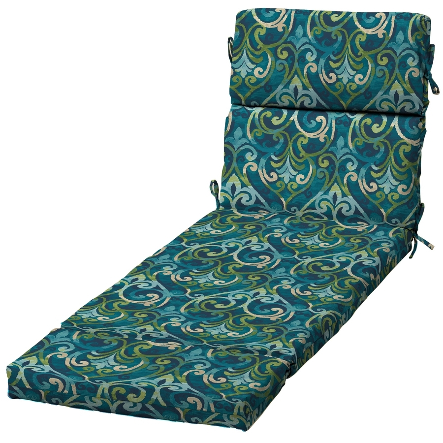 Current Shop Garden Treasures Salito Marine Damask Standard Patio Chair For Damask Chaise Lounge Chairs (View 6 of 15)