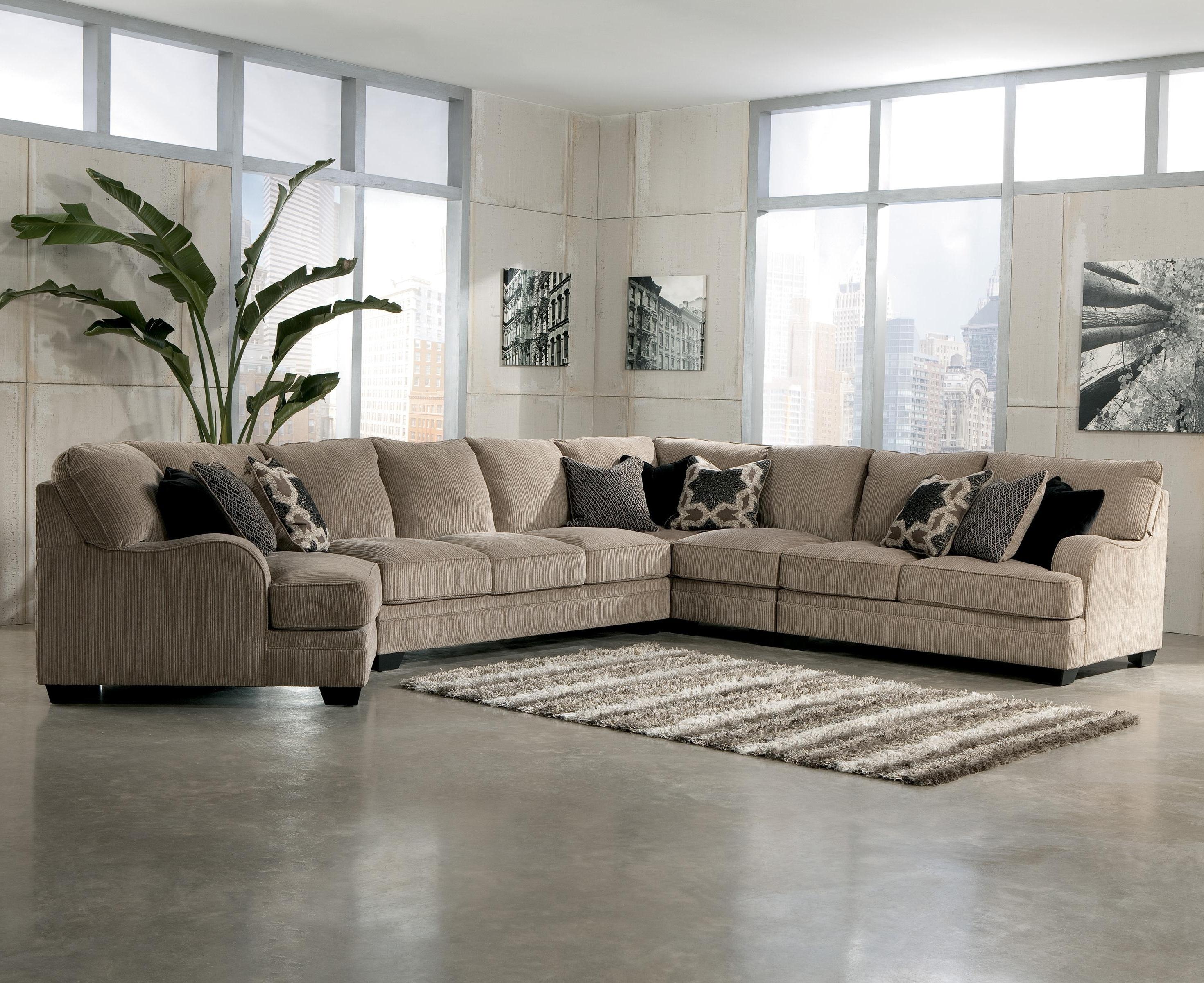Current Signature Designashley Katisha – Platinum 5 Piece Sectional Regarding Home Furniture Sectional Sofas (View 5 of 15)