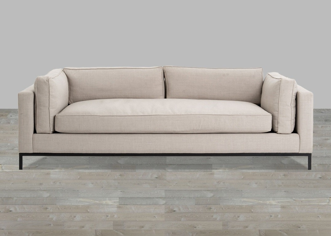 Current Single Sofas Regarding Linen Sofa With Single Seat Cushion (View 4 of 15)