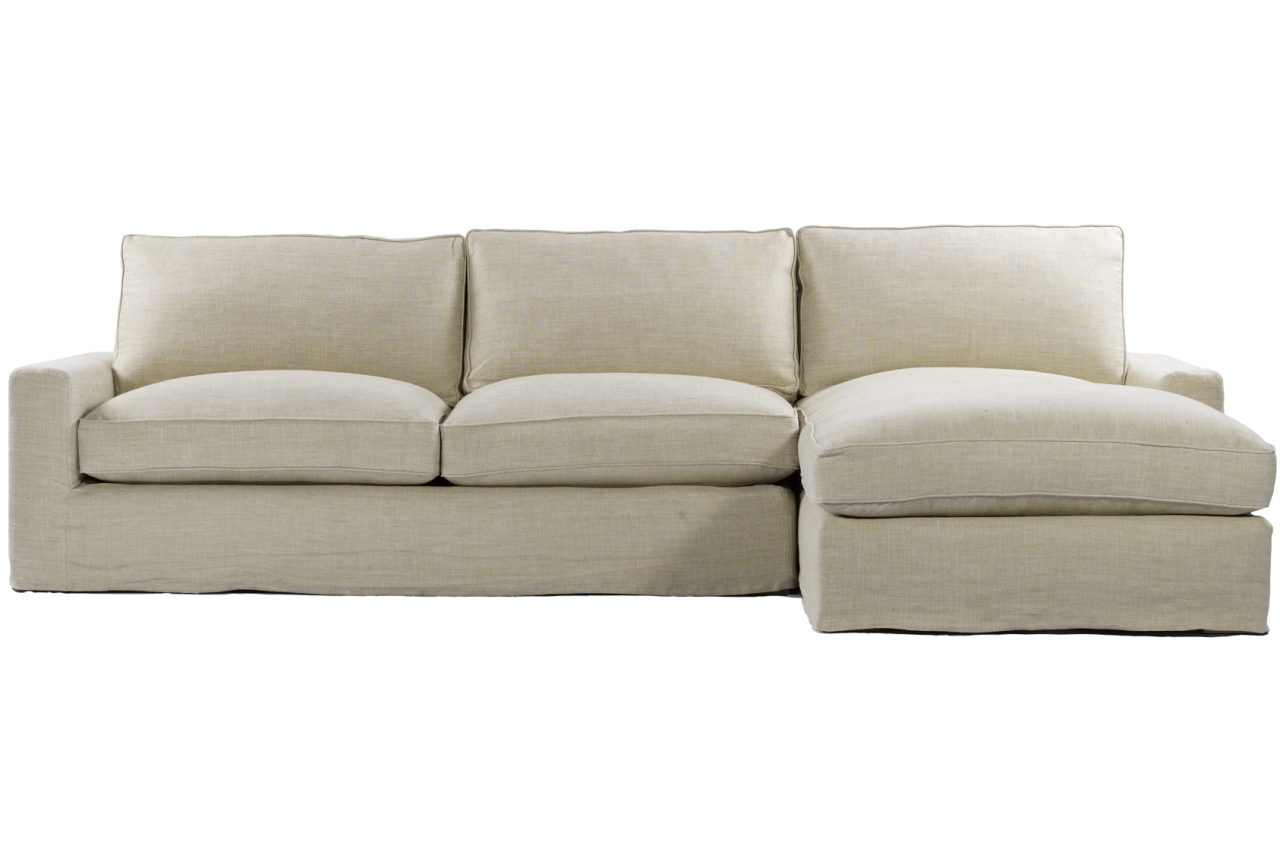 Current Slipcover Sectional Sofas With Chaise Within Slipcover Sectional Sofa With Chaise – Visionexchange (View 4 of 15)