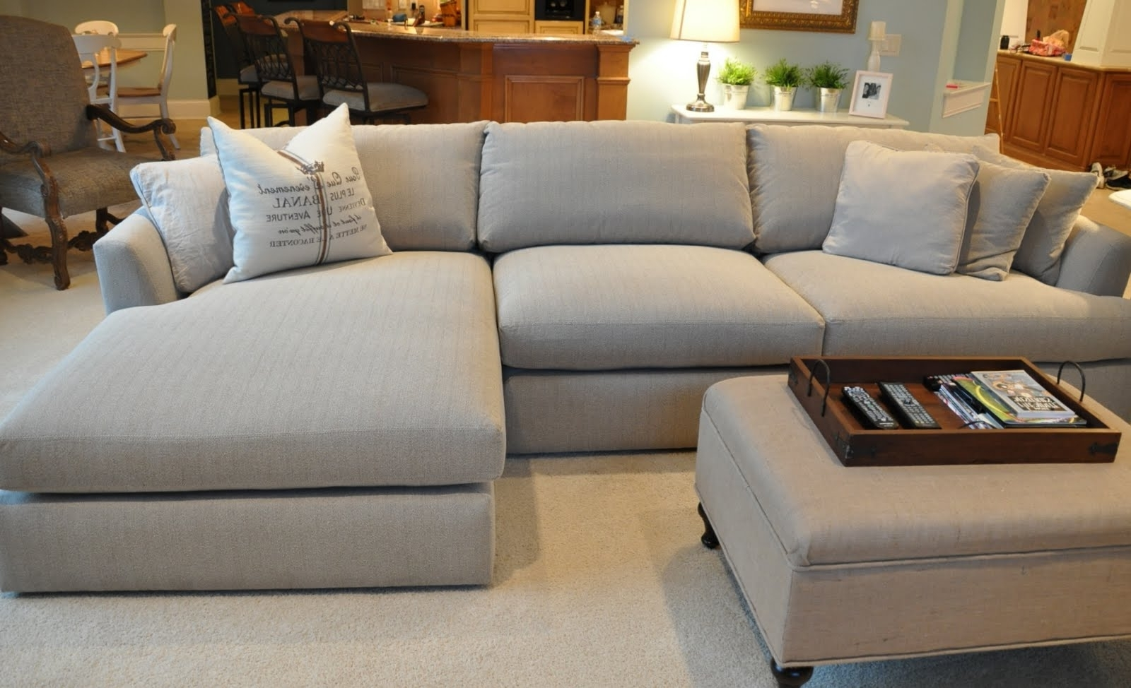 Current Sofa Sectionals With Chaise Regarding Furniture: Comfortable Deep Seat Sectional For Your Living Room (View 12 of 15)