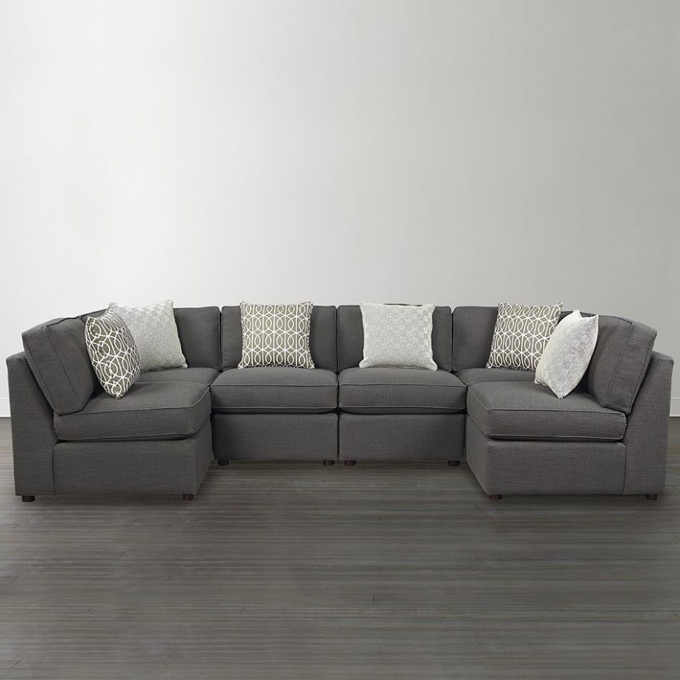 Current Sofa : U Shaped Sectional Sofa Red Leather Sofa' Bob Furniture Throughout Gray U Shaped Sectionals (View 4 of 15)