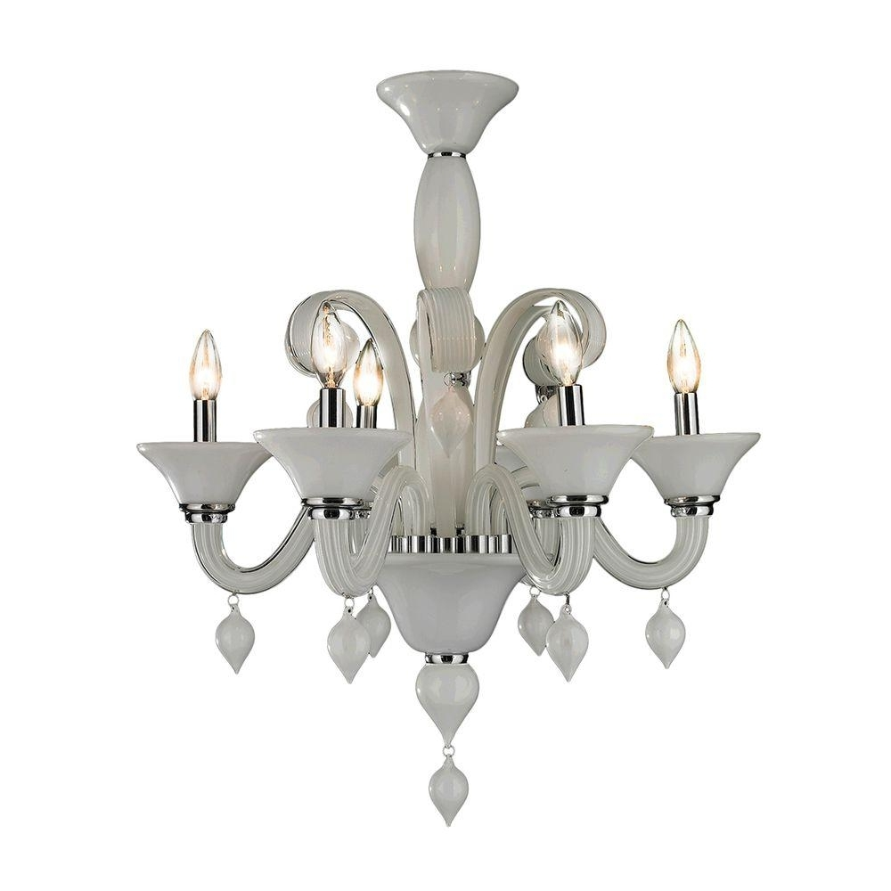Current Worldwide Lighting Murano Venetian Style 6 Light Polished Chrome Within Chrome And Glass Chandeliers (View 4 of 15)
